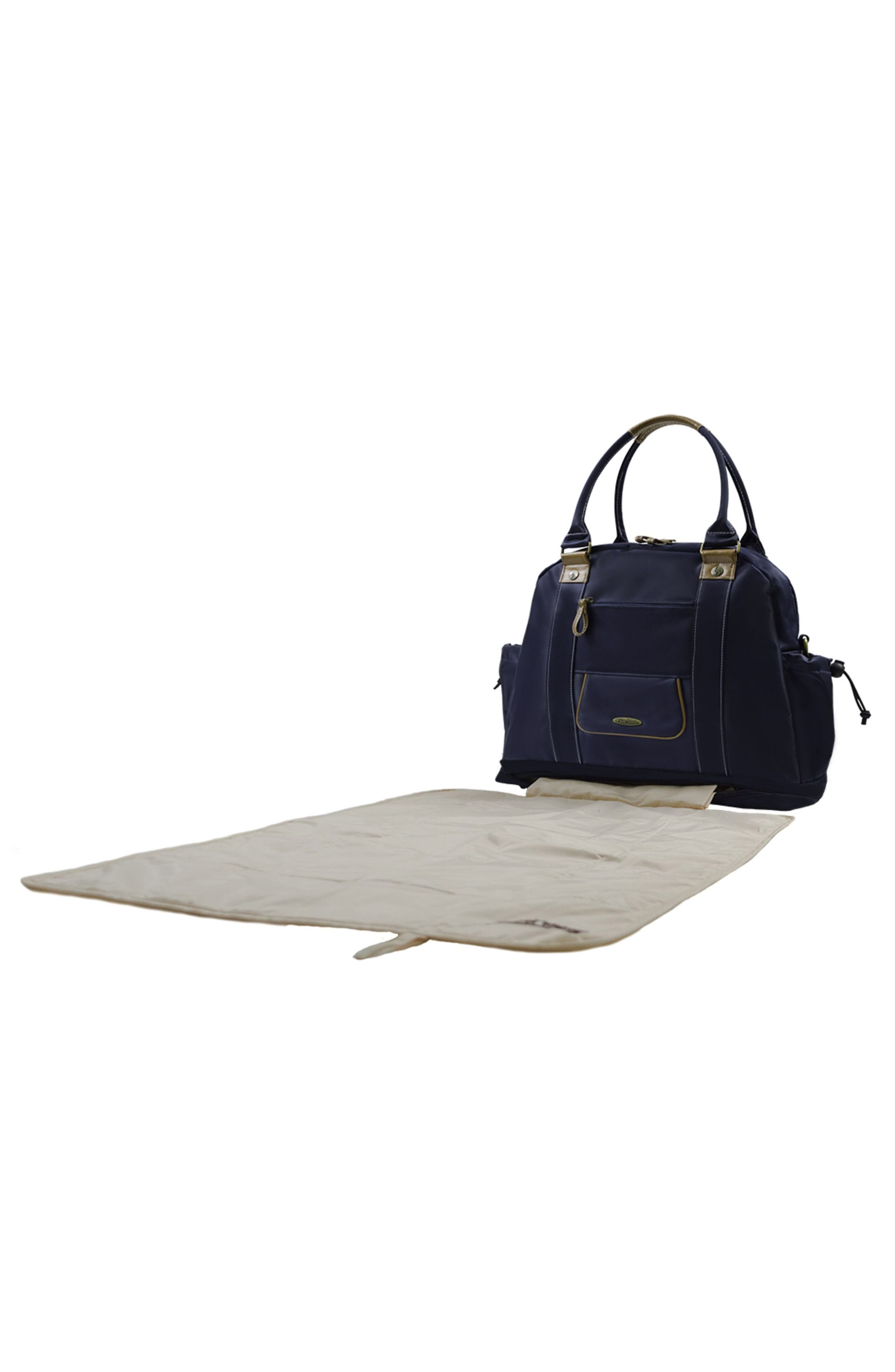 Sail Away Satchel Diaper bag,                             Alternate thumbnail 4, color,                             Natuical Navy