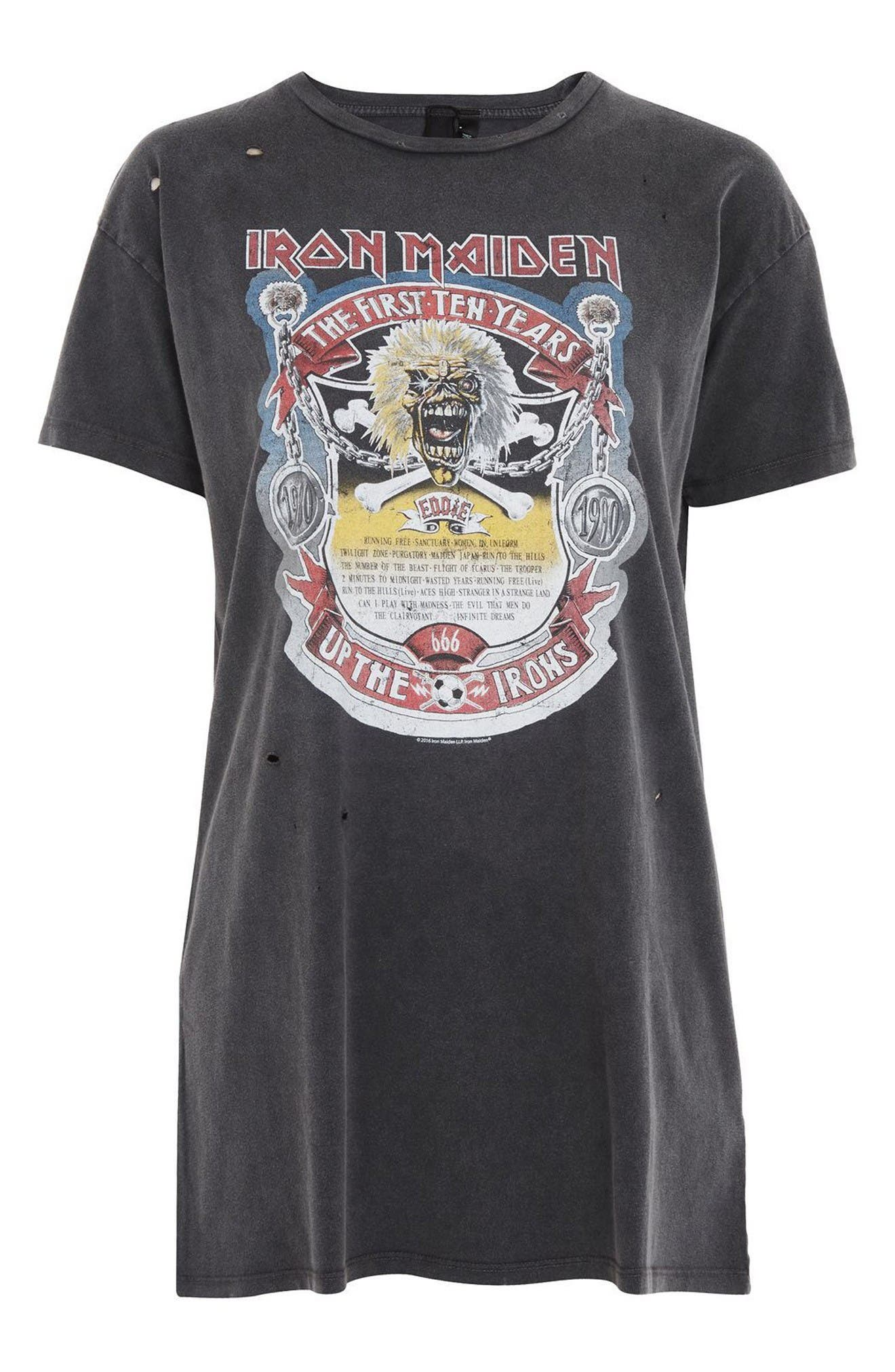 Alternate Image 4  - Topshop by And Finally Iron Maiden T-Shirt Dress