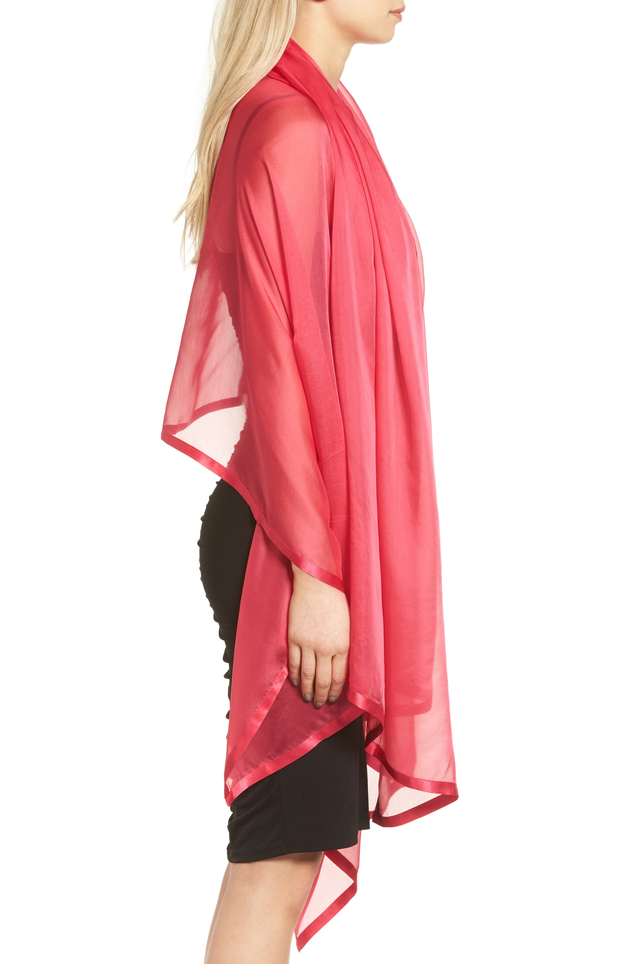 Alternate Image 3  - Glint Satin Border Silk Wrap