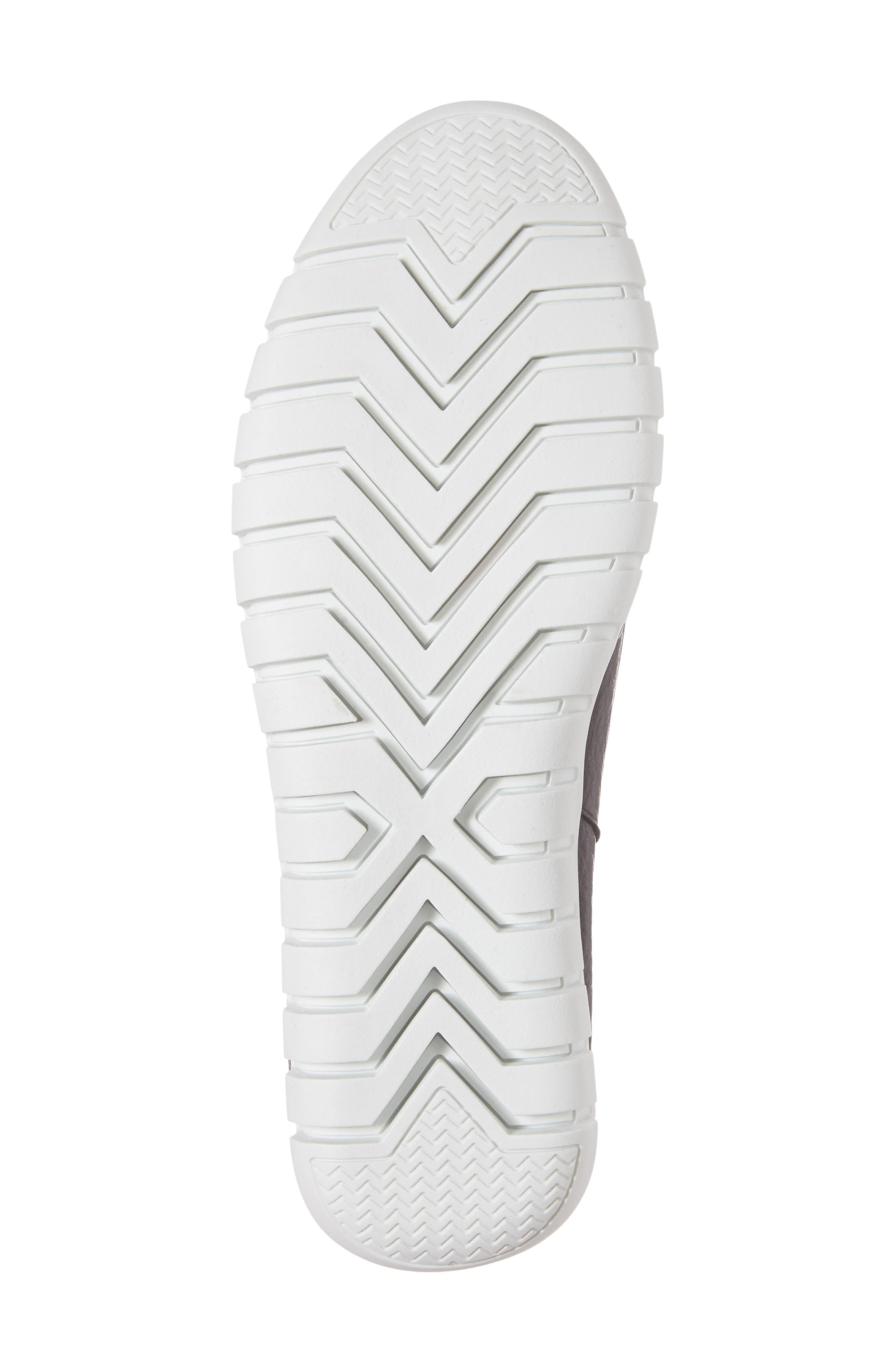 Kim Slip-On Sneaker,                             Alternate thumbnail 6, color,                             Black Leather