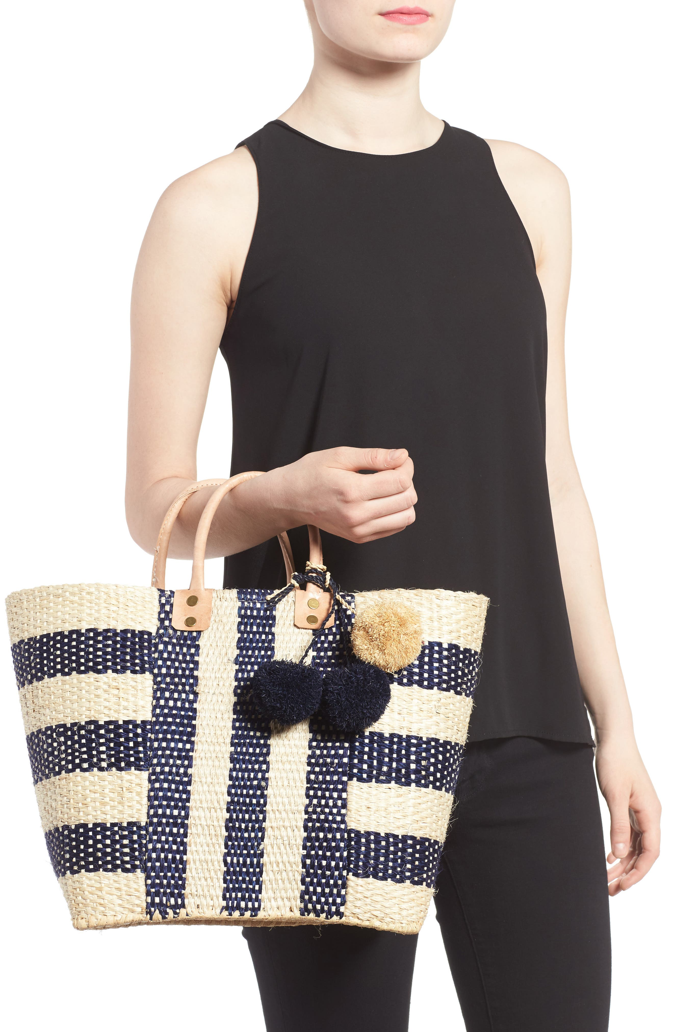 'Collins' Woven Tote,                             Alternate thumbnail 2, color,                             Navy