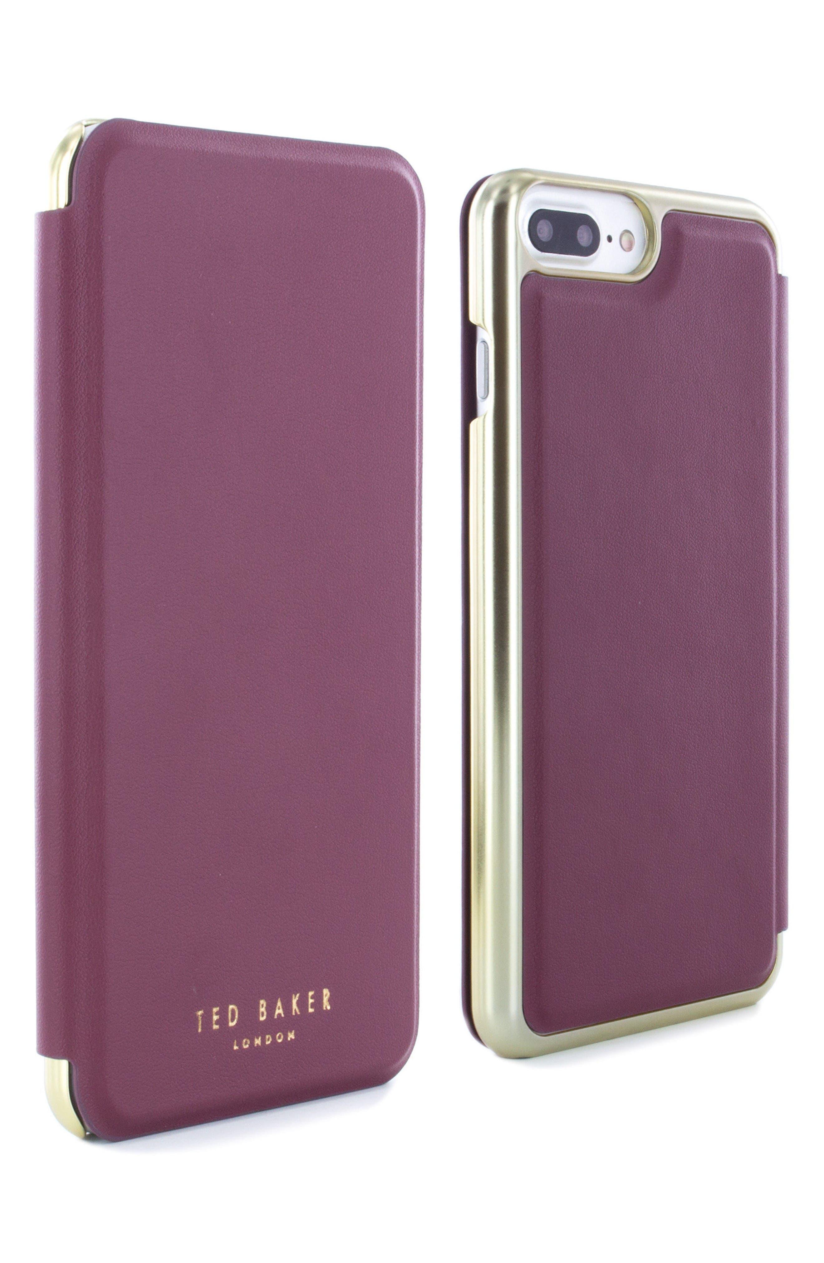 Shannon iPhone 6/6s/7/8 Plus Mirror Folio Case,                             Alternate thumbnail 4, color,                             Red