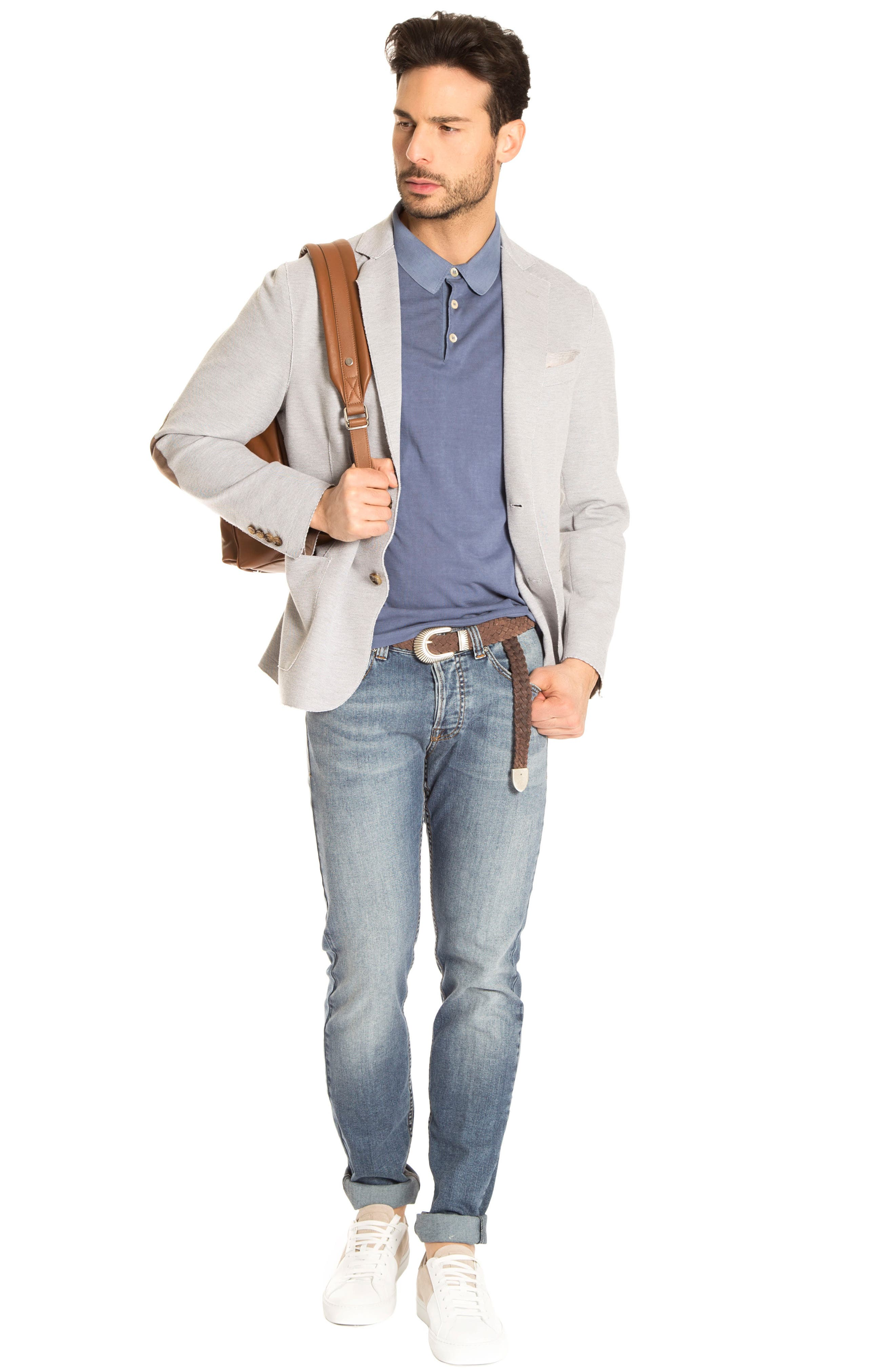 Trim Fit Jersey Blazer,                             Alternate thumbnail 2, color,                             Grey