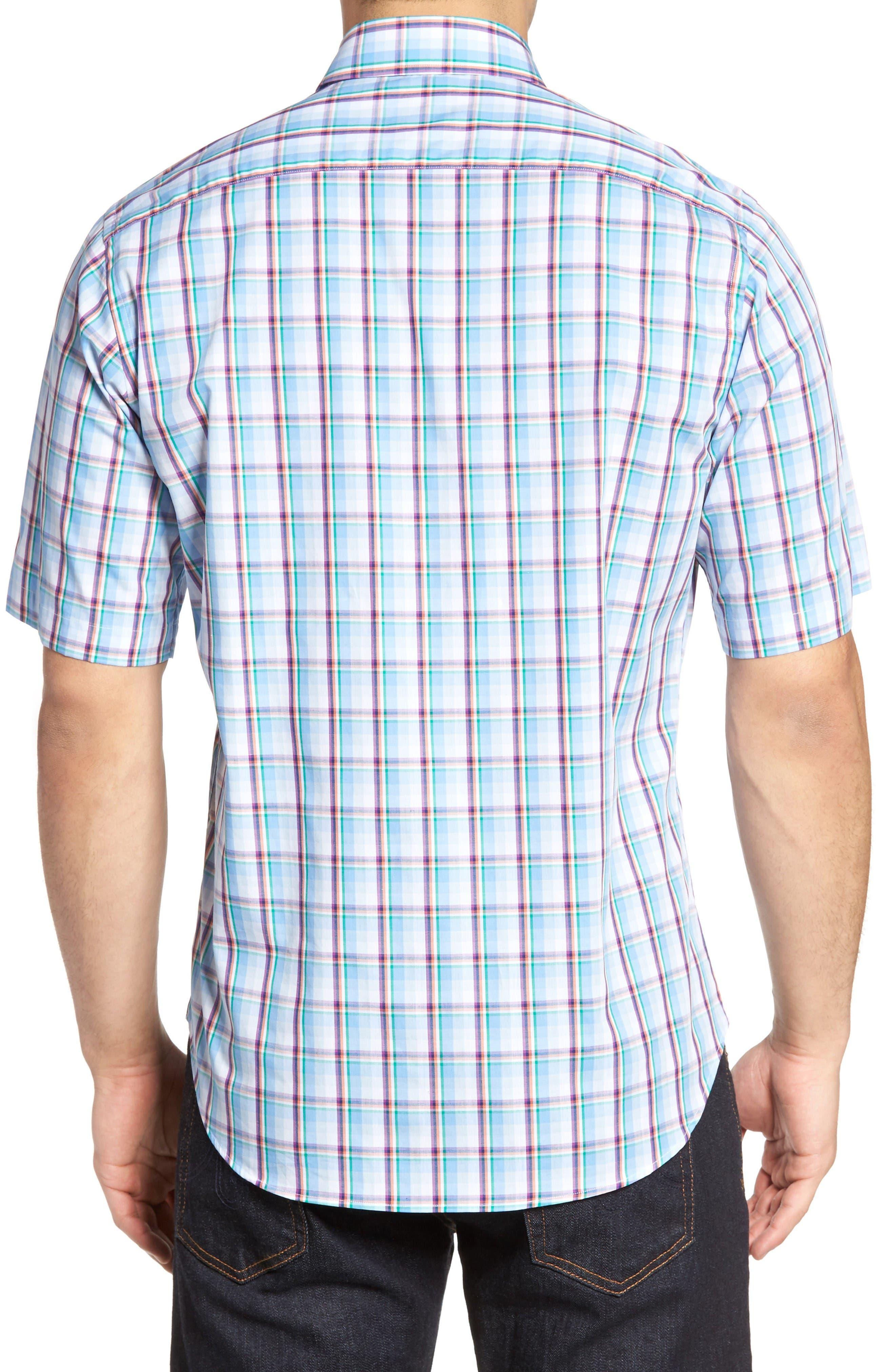 Alternate Image 2  - TailorByrd Pinyon Plaid Sport Shirt