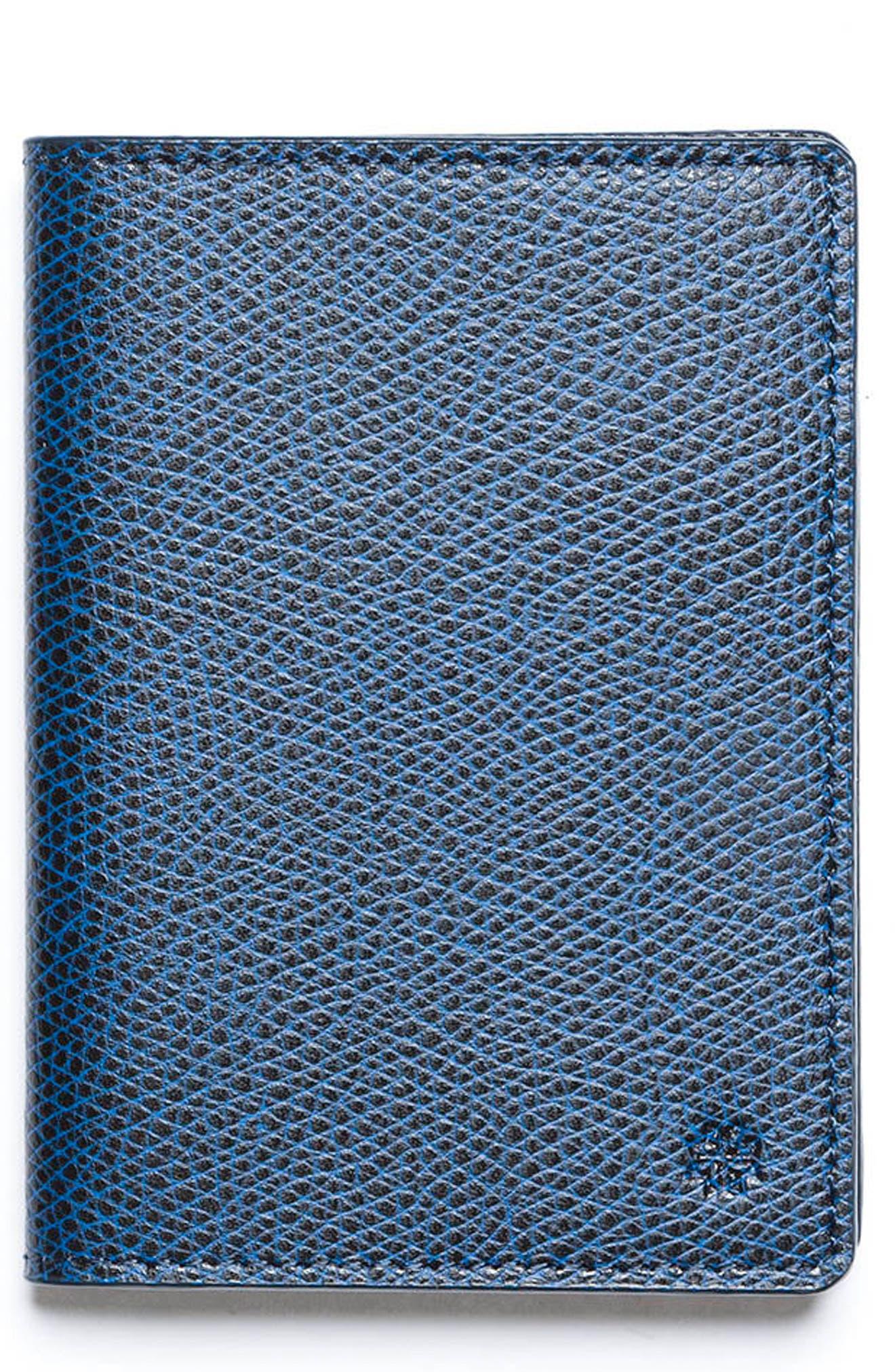 Main Image - hook + ALBERT Vertical Leather Wallet