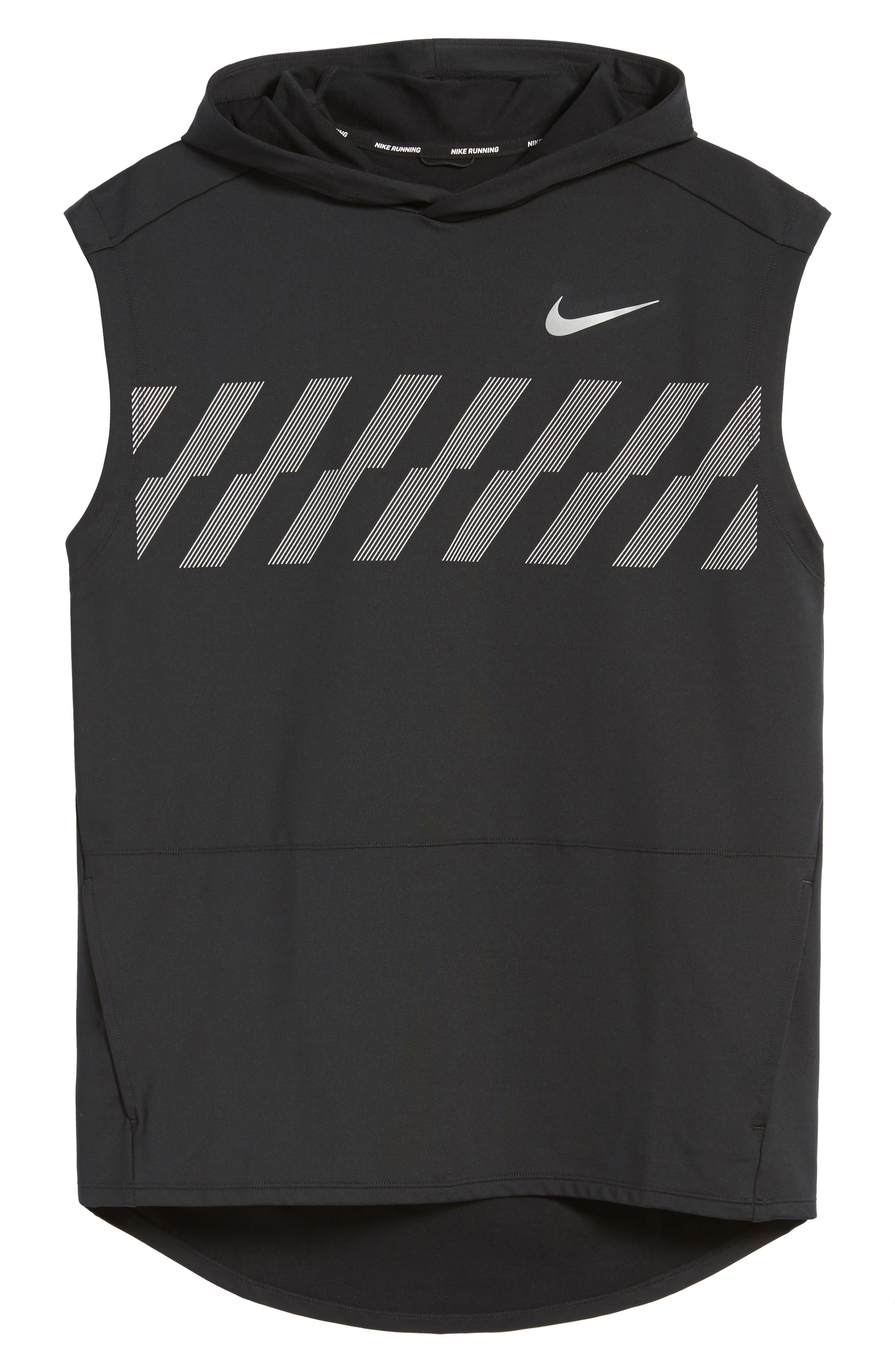 Alternate Image 6  - Nike Sleeveless Running Hoodie