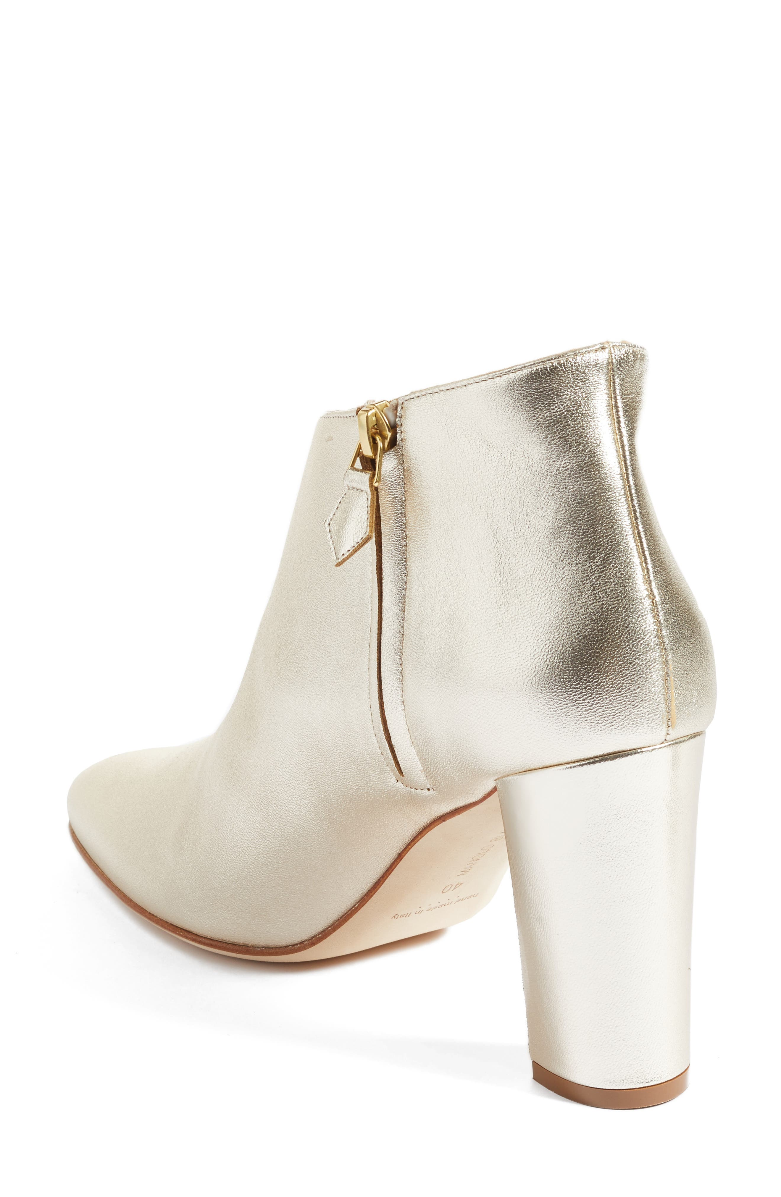 'Brusta'  Bootie,                             Alternate thumbnail 2, color,                             Light Gold Leather