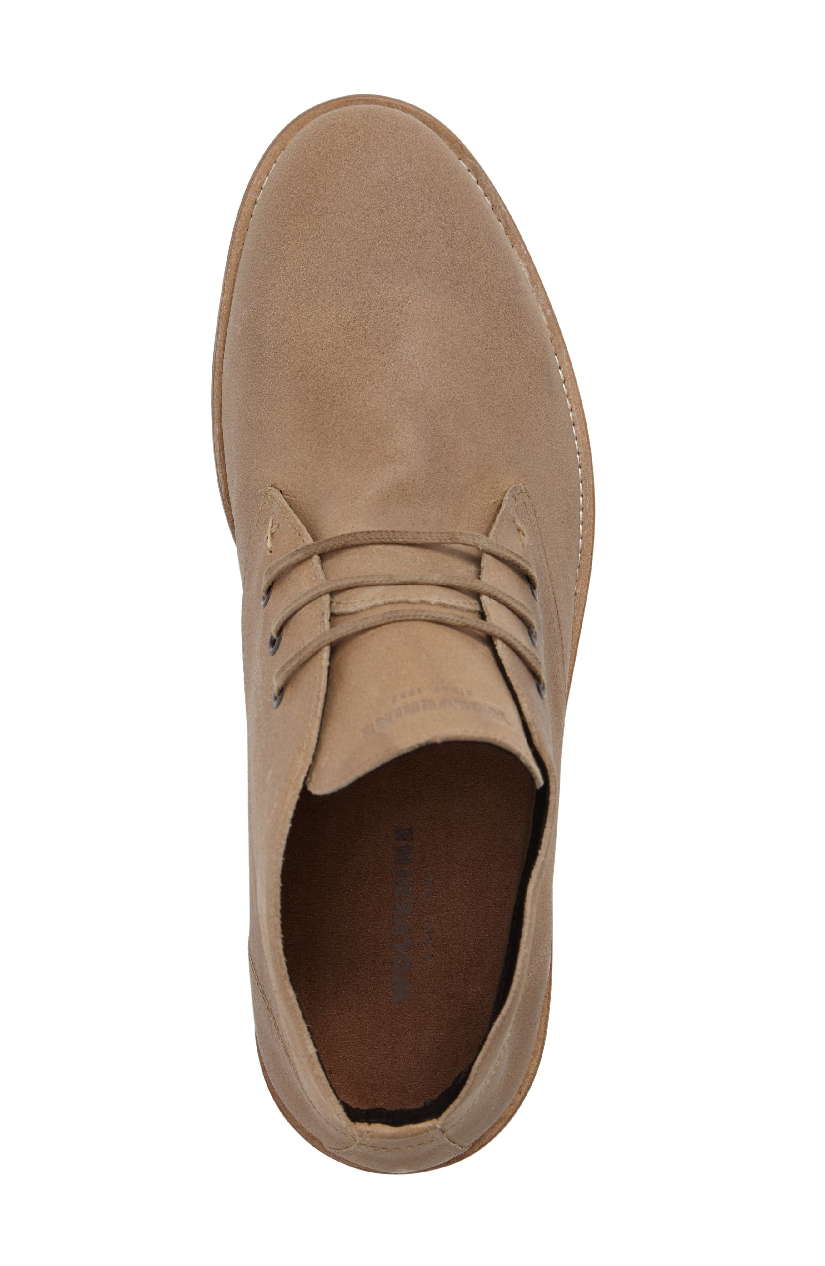 Gibson Chukka Boot,                             Alternate thumbnail 5, color,                             Stone Suede