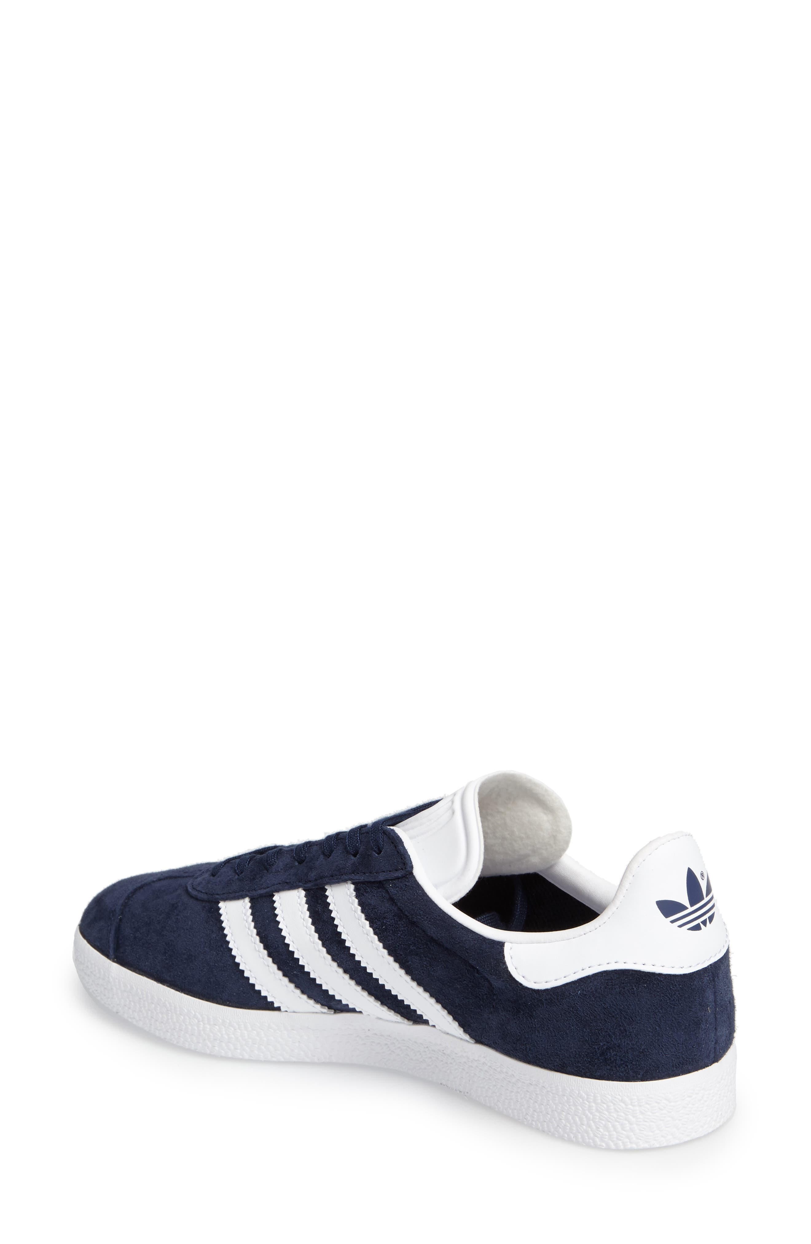 Gazelle Sneaker,                             Alternate thumbnail 2, color,                             Navy/ White/ Gold Metallic
