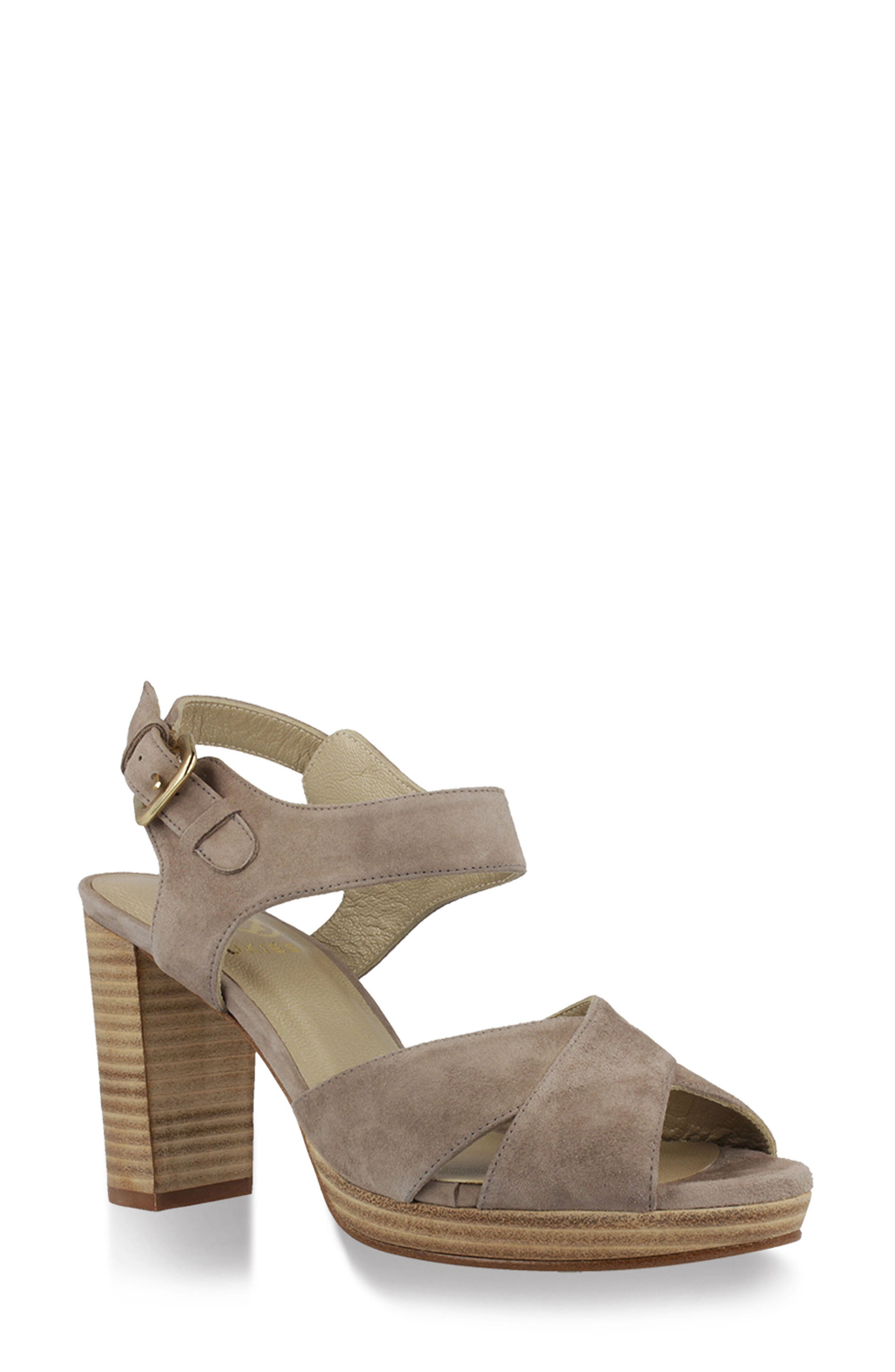 Tango Sandal,                         Main,                         color, Taupe Suede