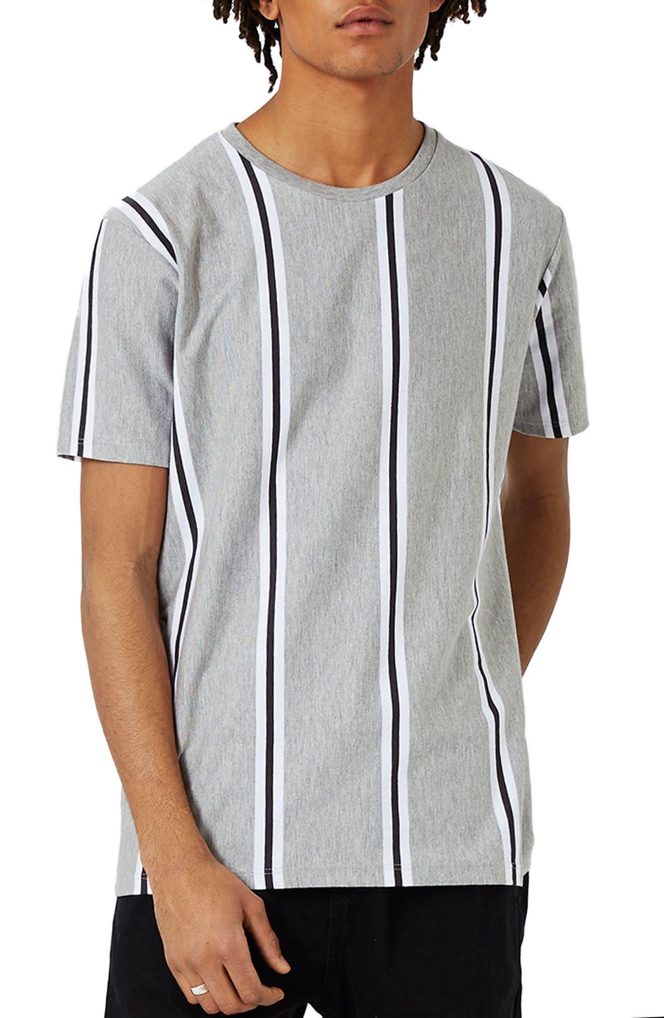 TOPMAN Vertical Stripe T-Shirt