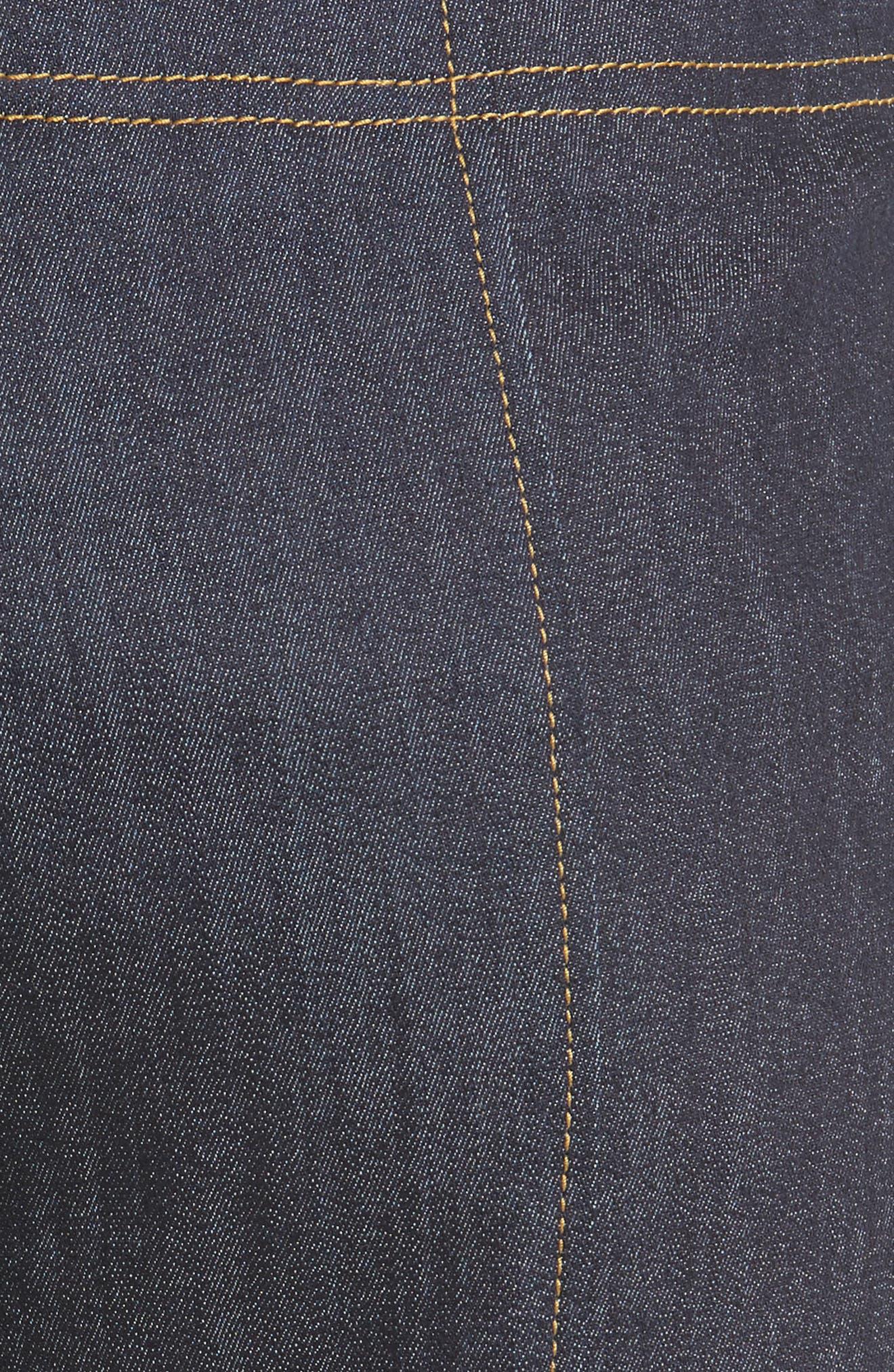 Marla Cuff Jeans,                             Alternate thumbnail 6, color,                             Indigo