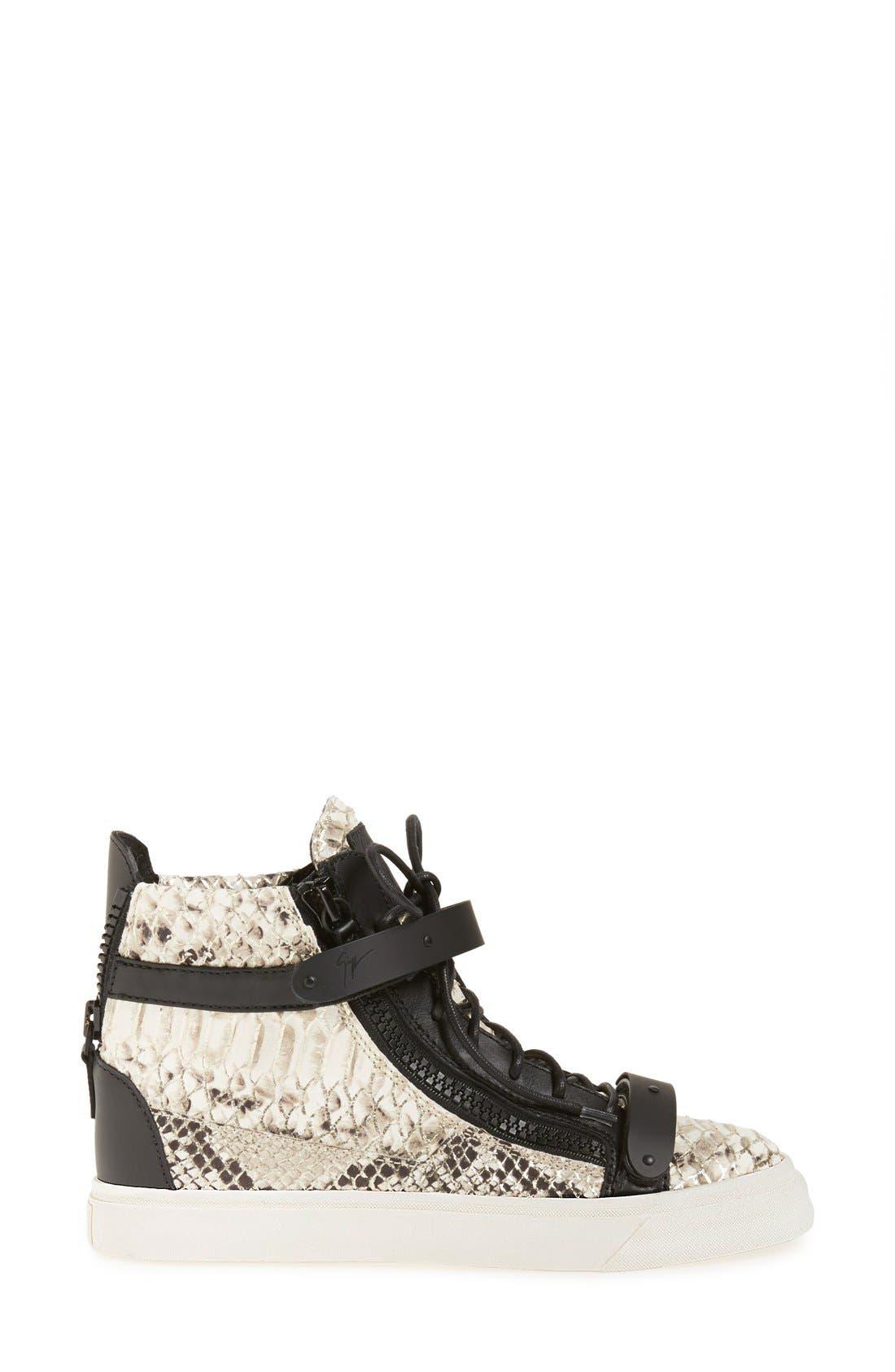 Alternate Image 4  - Giuseppe Zanotti 'London' High Top Sneaker (Women)