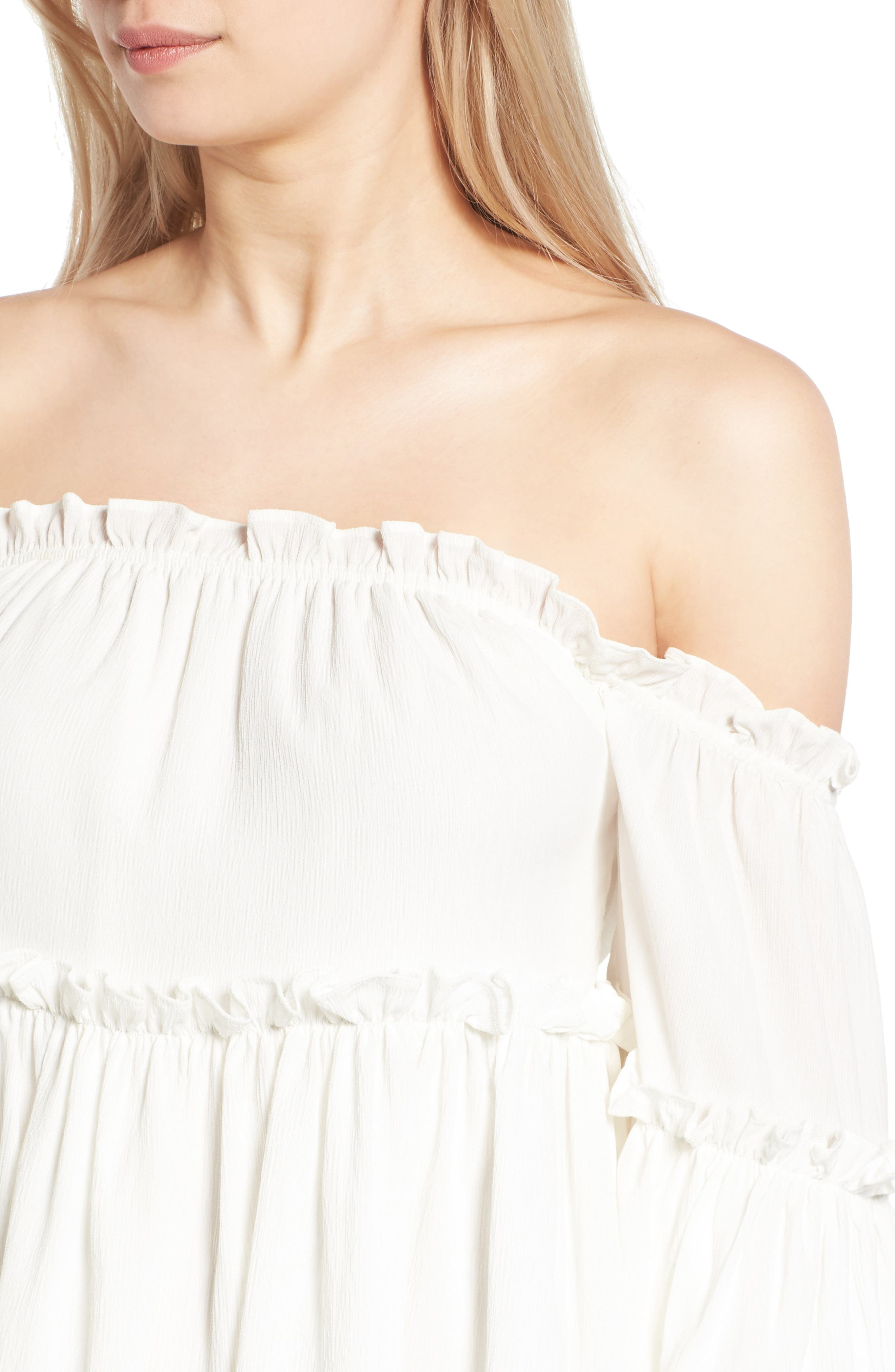 Alternate Image 5  - J.O.A. Ruffle Off the Shoulder Top