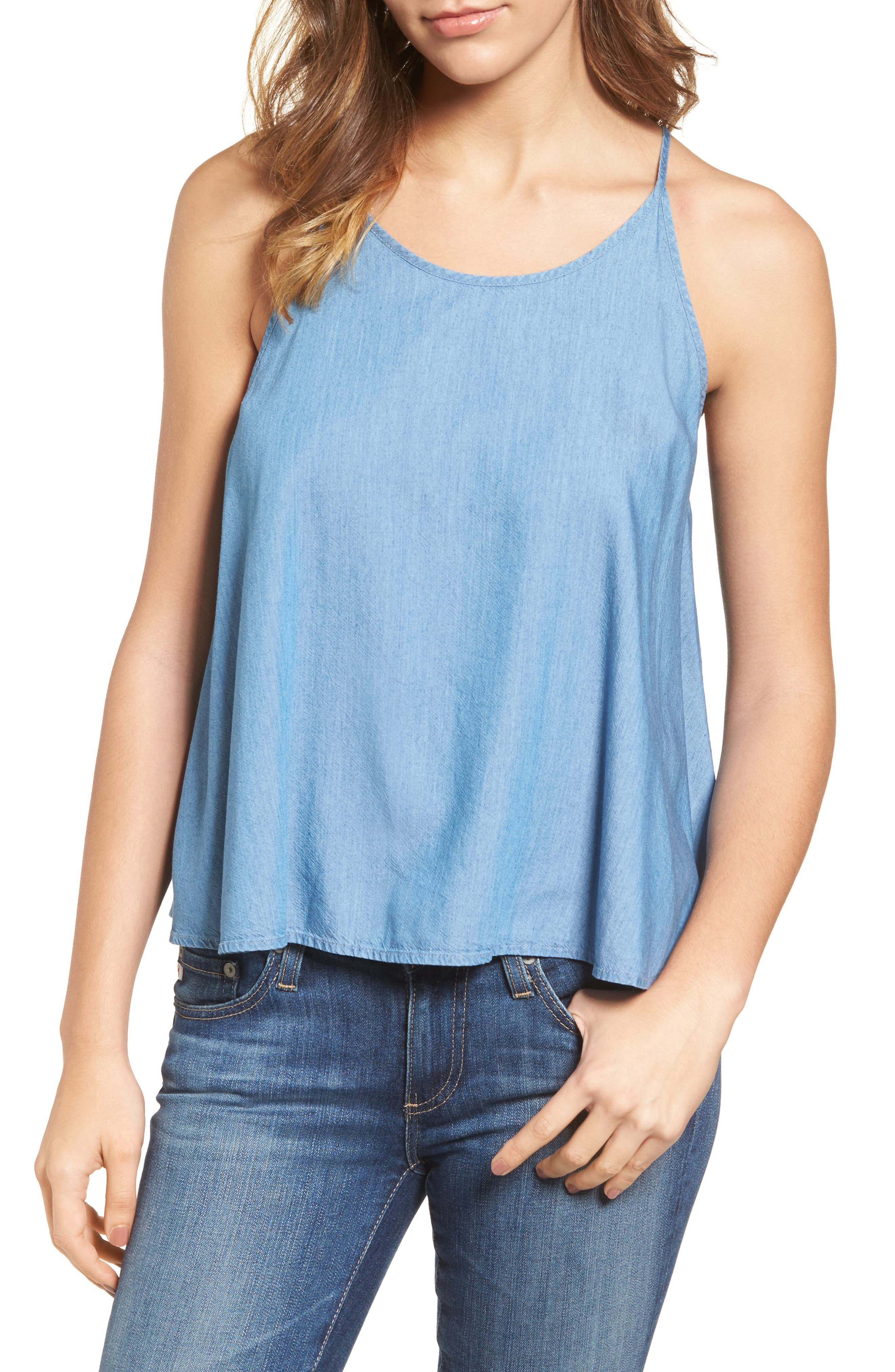 Felicity Chambray Tank,                         Main,                         color, Distant
