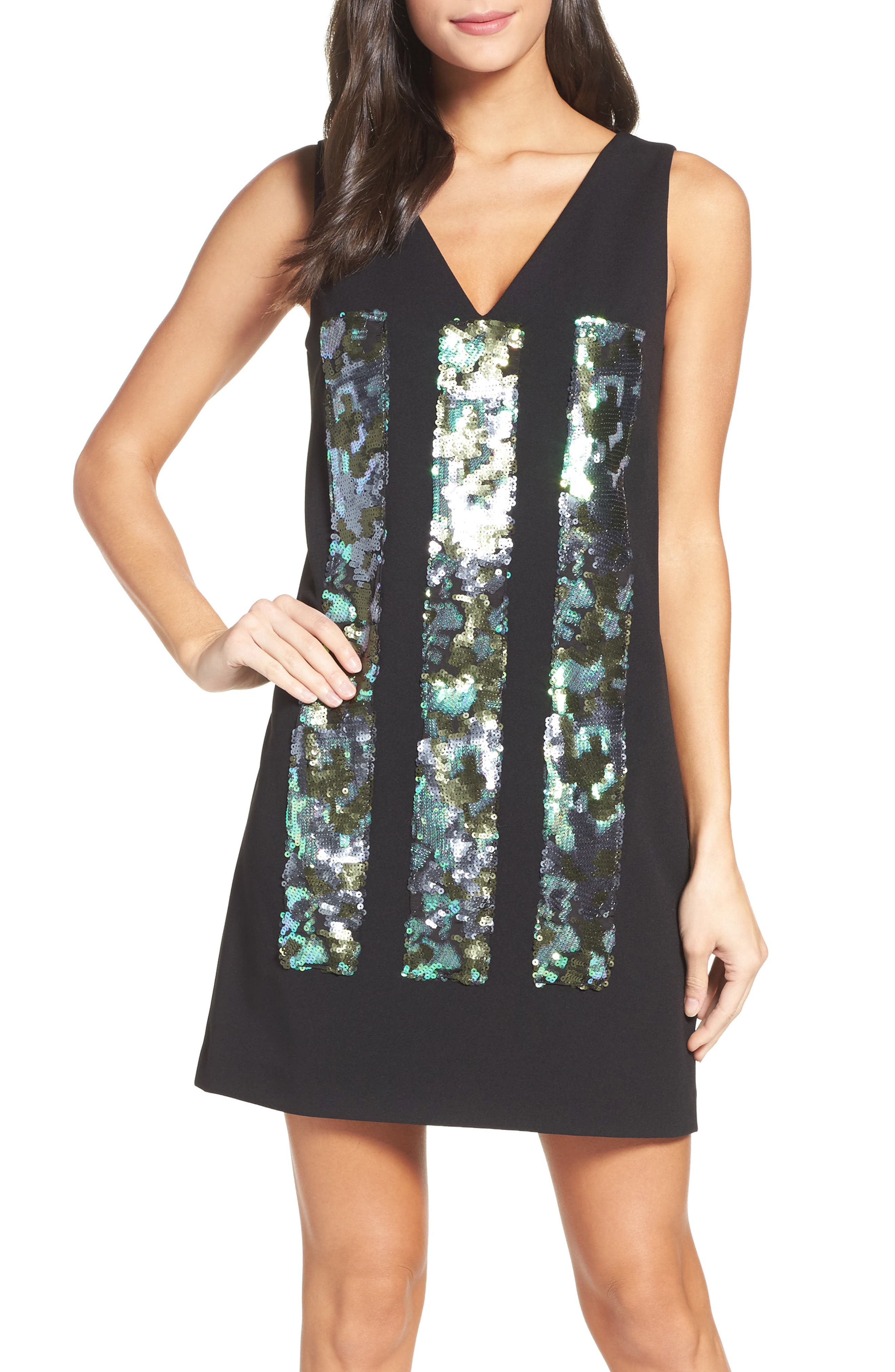 Vera Wang Sequin Shift Dress