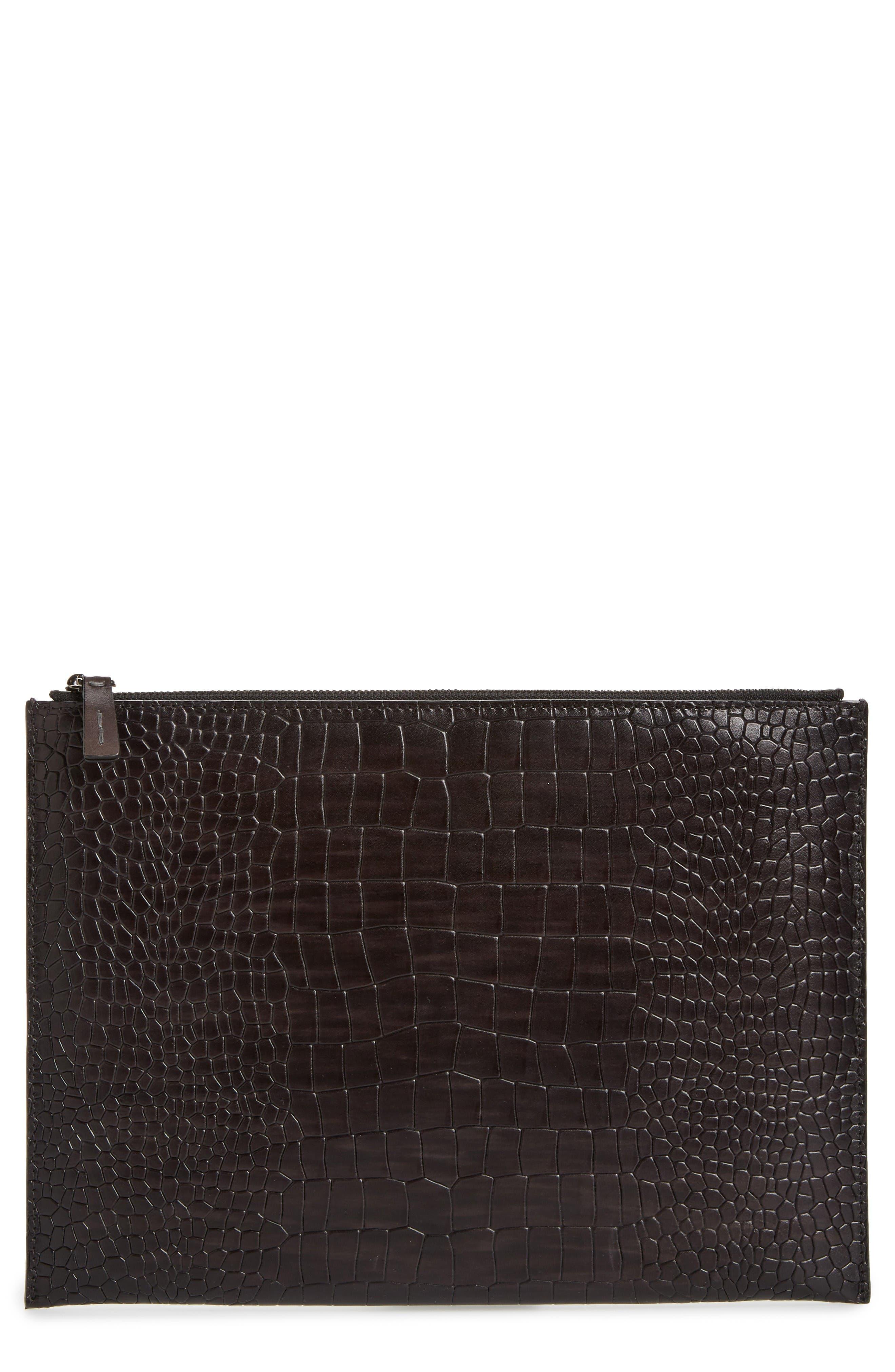 Alternate Image 1 Selected - Magnanni Leather Tablet Case