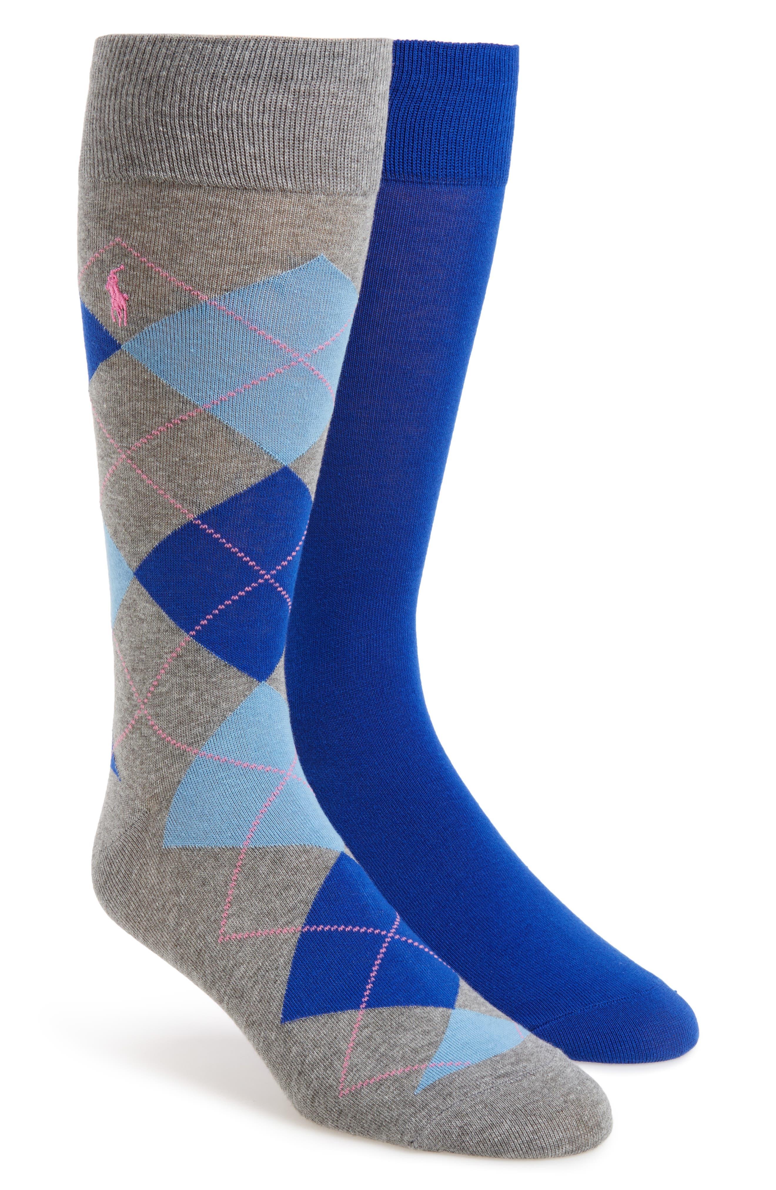 Alternate Image 1 Selected - Polo Ralph Lauren Cotton Blend Socks (2-Pack)