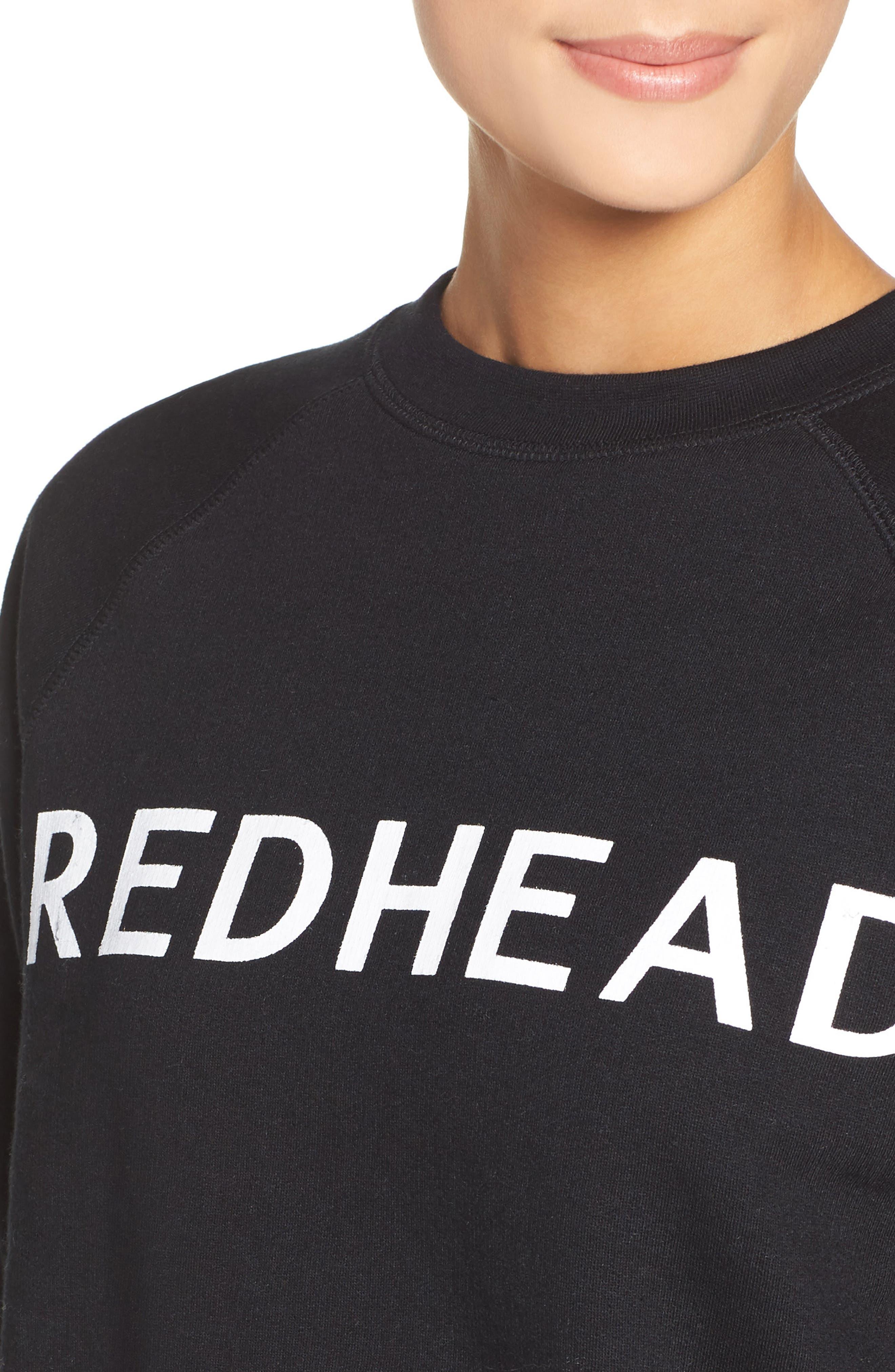 Alternate Image 4  - BRUNETTE the Label Redhead Lounge Sweatshirt
