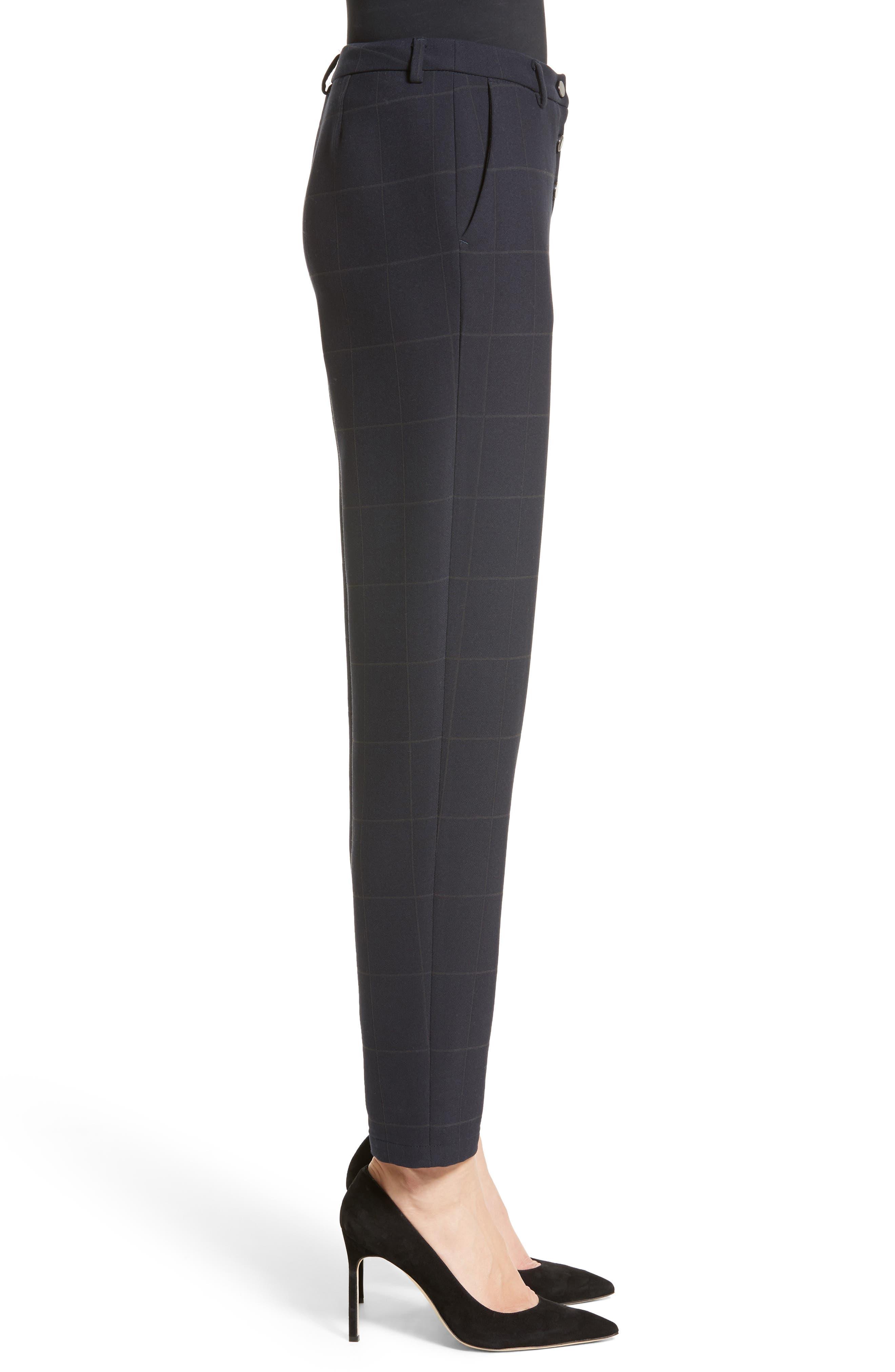Alternate Image 5  - Armani Collezioni Windowpane Plaid Pants