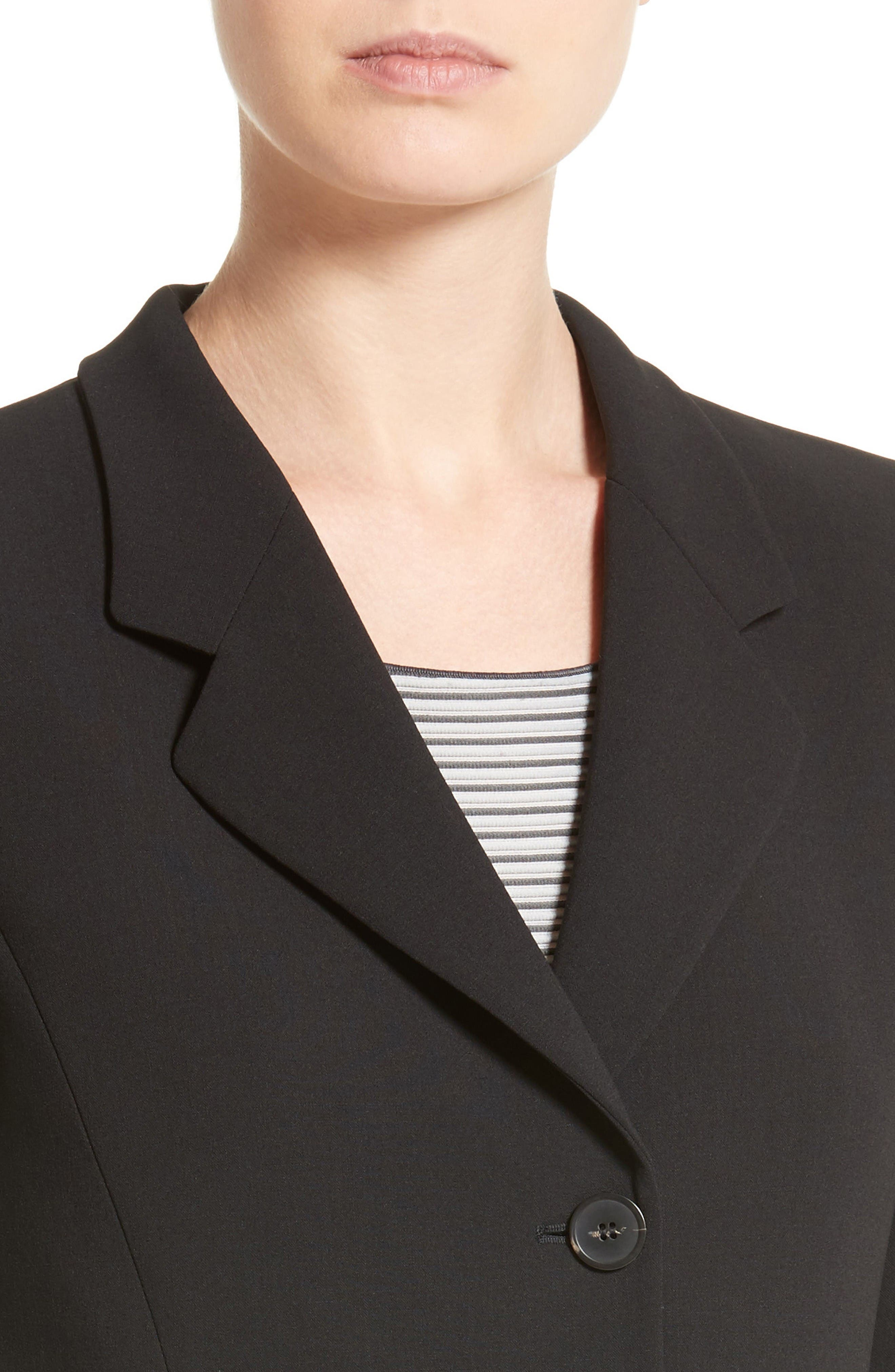 Stretch Wool Jacket,                             Alternate thumbnail 6, color,                             Black