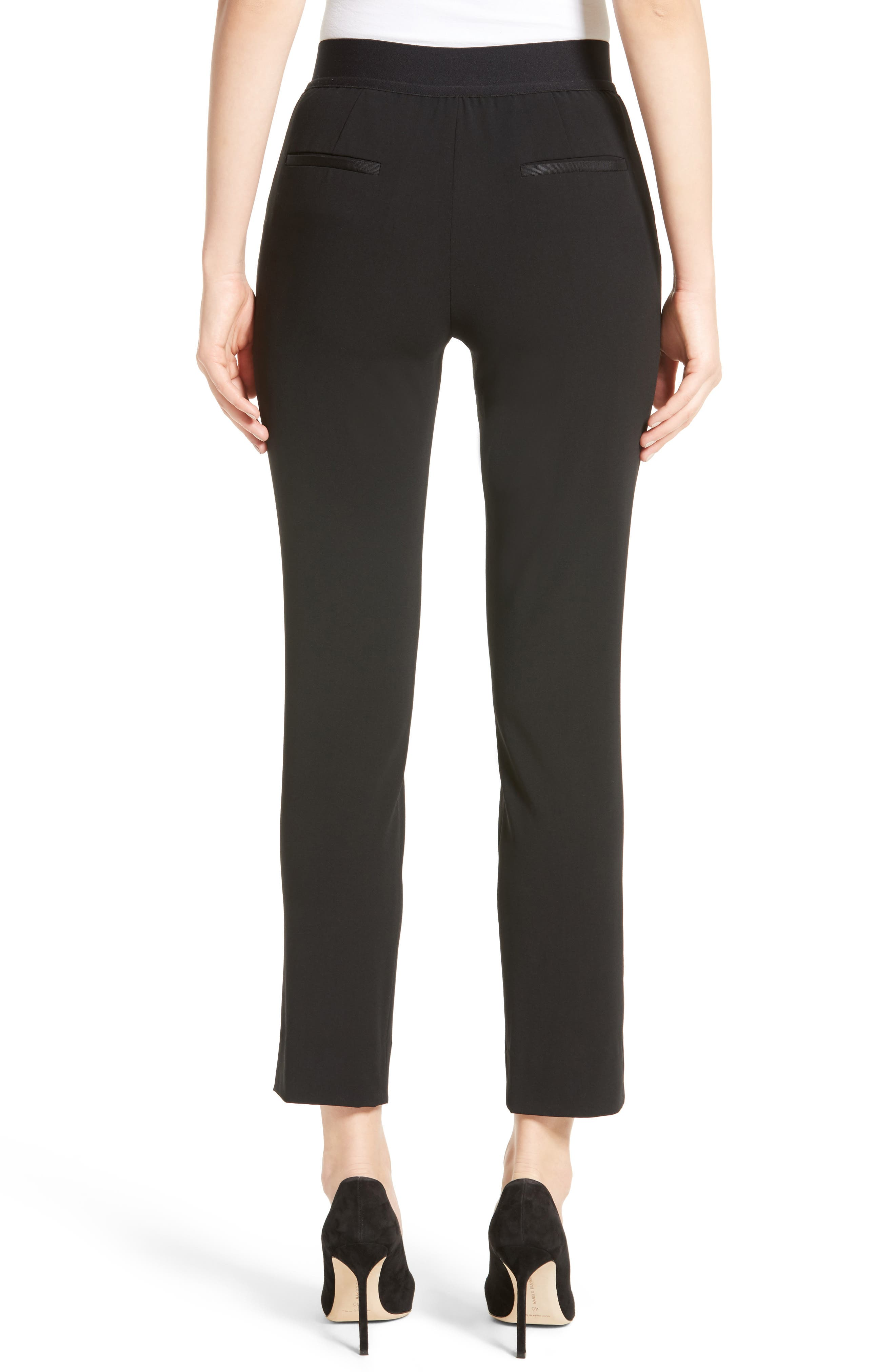 Alternate Image 2  - Armani Collezioni Stretch Wool Pants