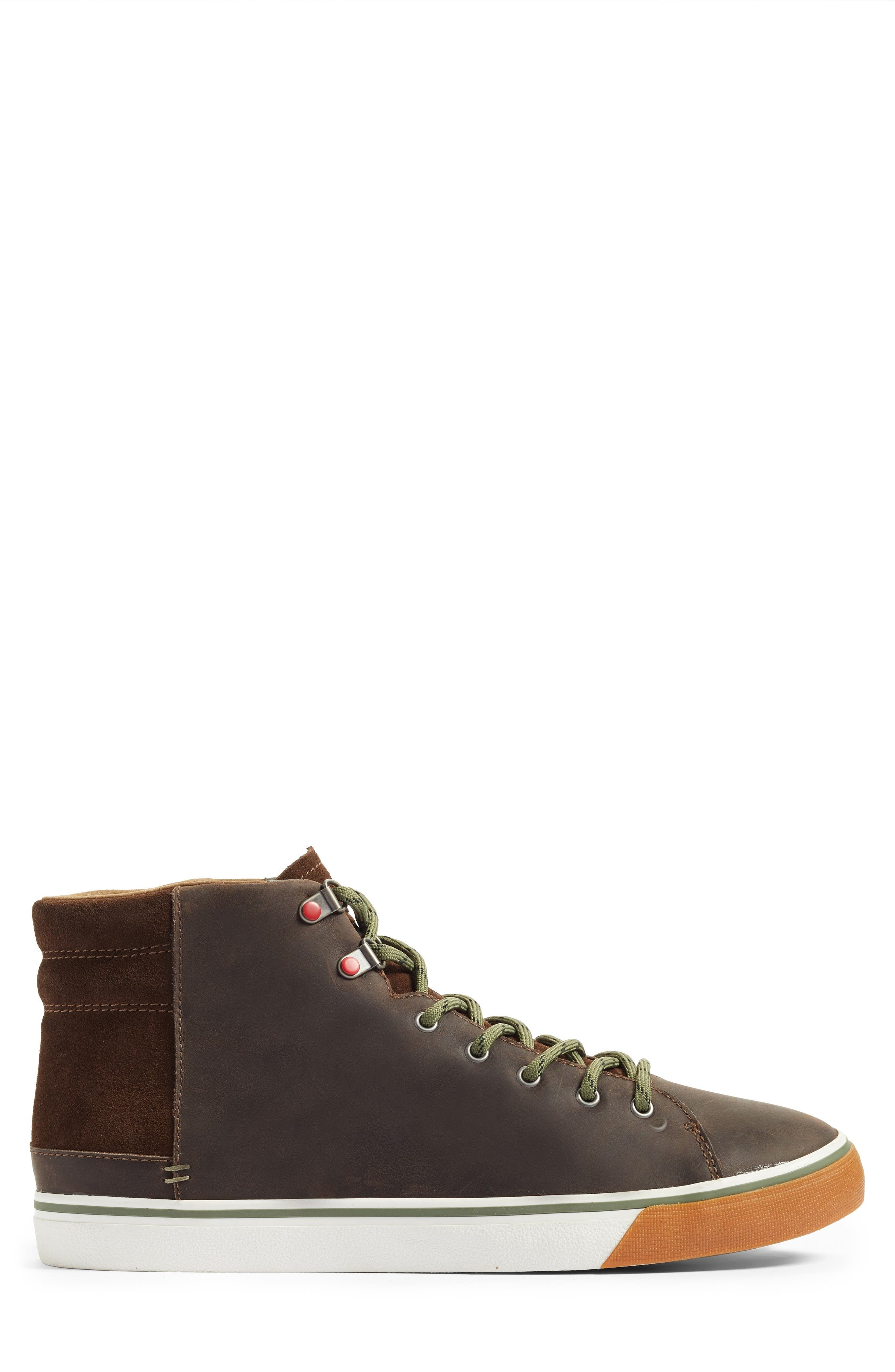 Hoyt High Top Sneaker,                             Alternate thumbnail 3, color,                             Grizzly