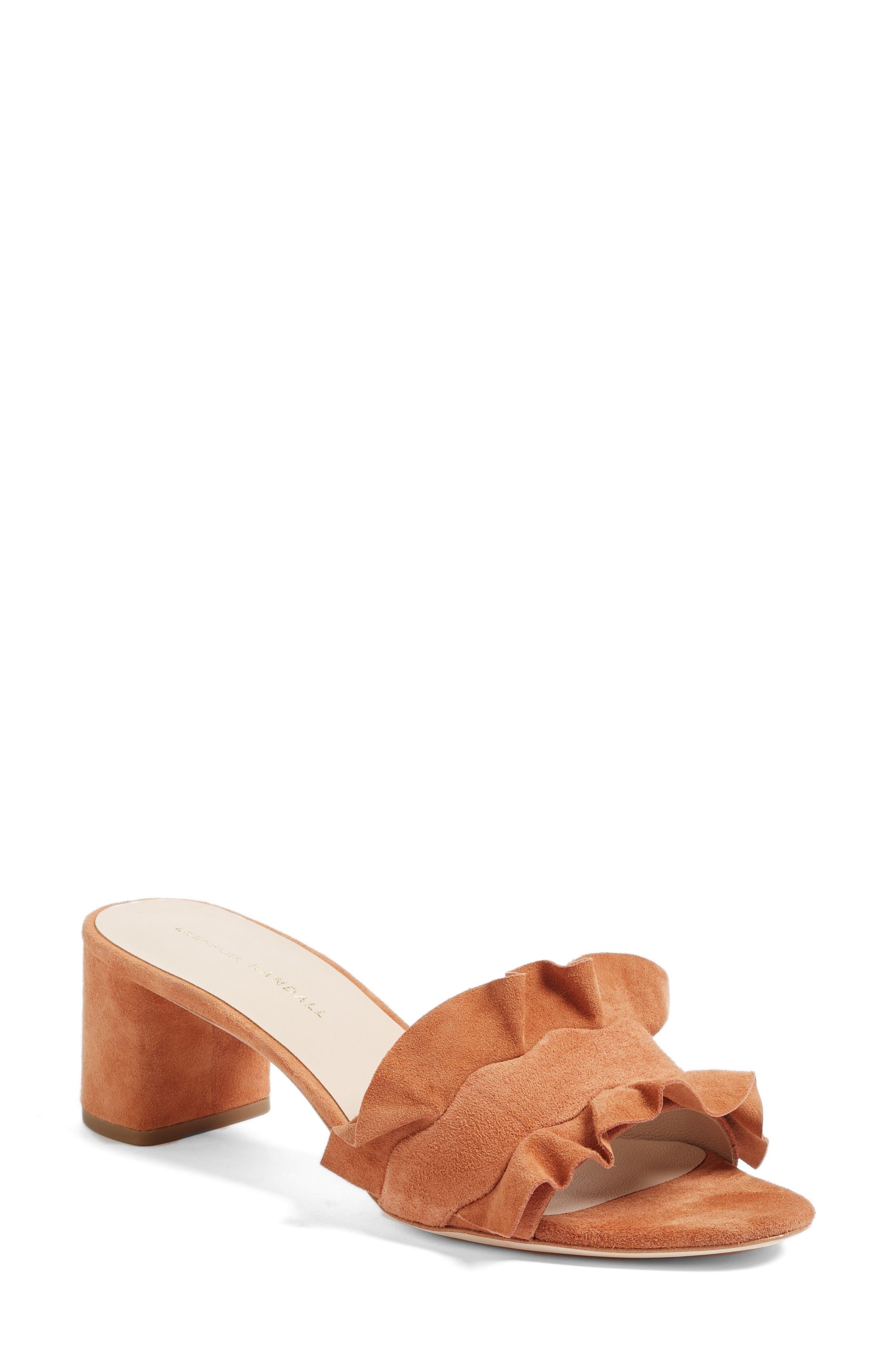 LOEFFLER RANDALL Vera Ruffled Slide Sandal
