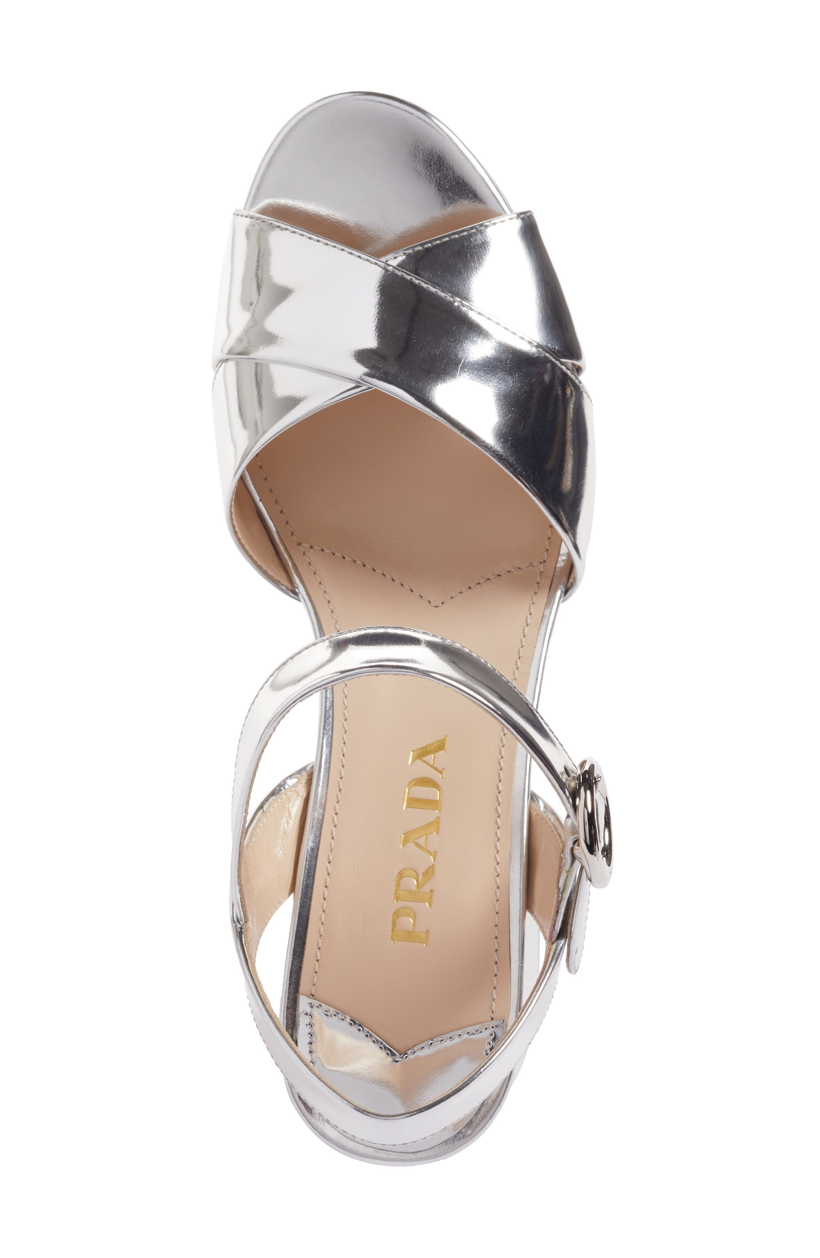 Alternate Image 5  - Prada Strappy Platform Sandal (Women)