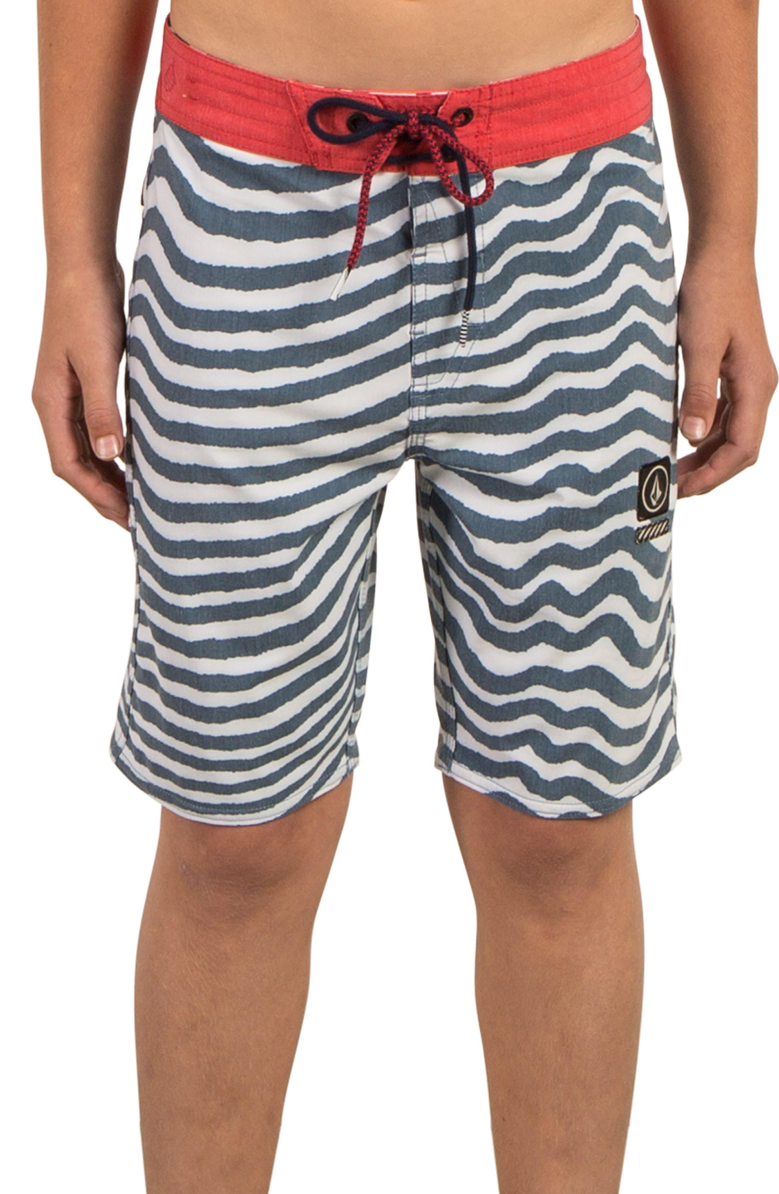 Mag Vibes Board Shorts,                         Main,                         color, Indigo