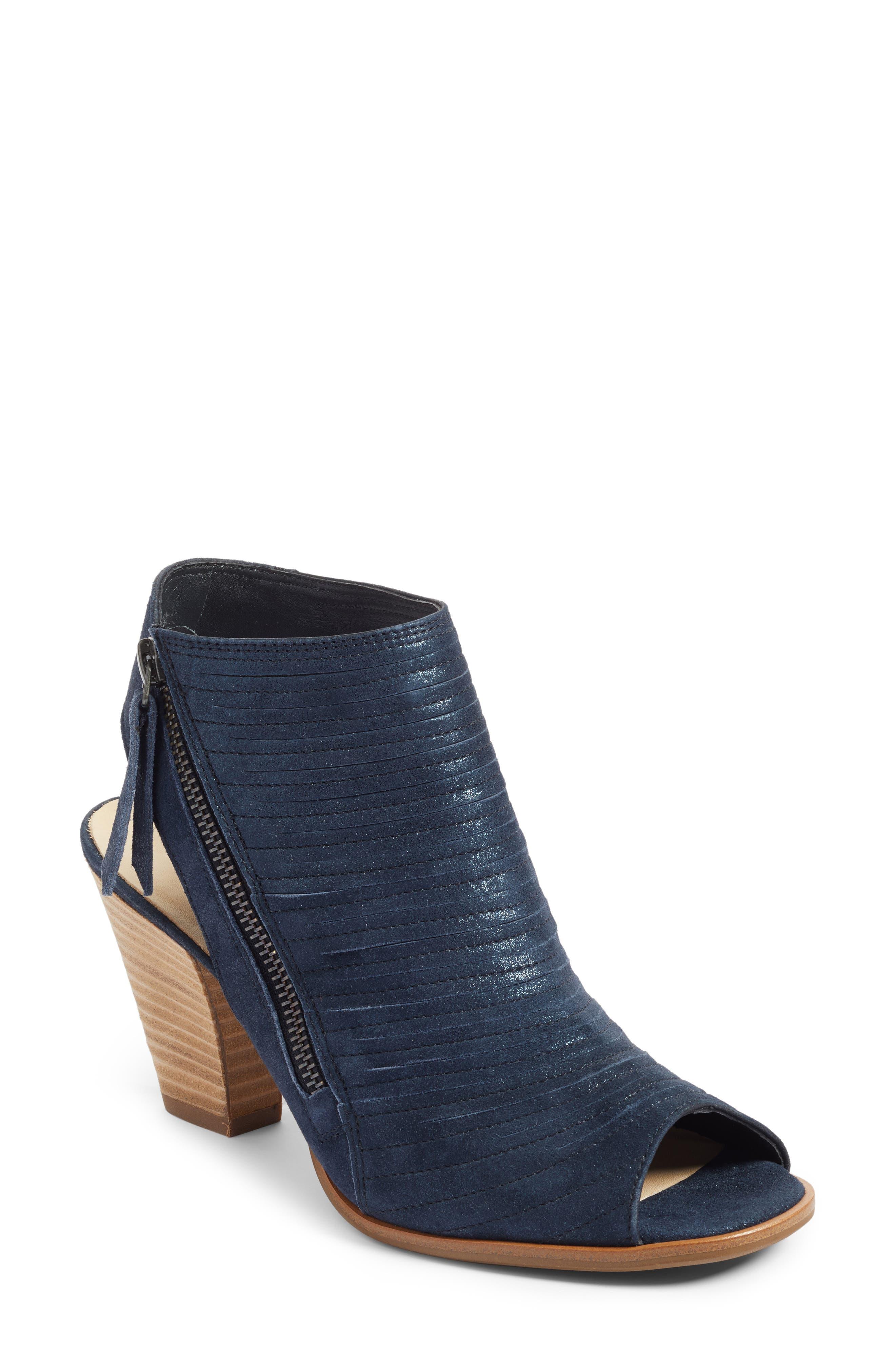 baeca39923c Paul Green  Cayanne  Leather Peep Toe Sandal In Ocean Metallic ...