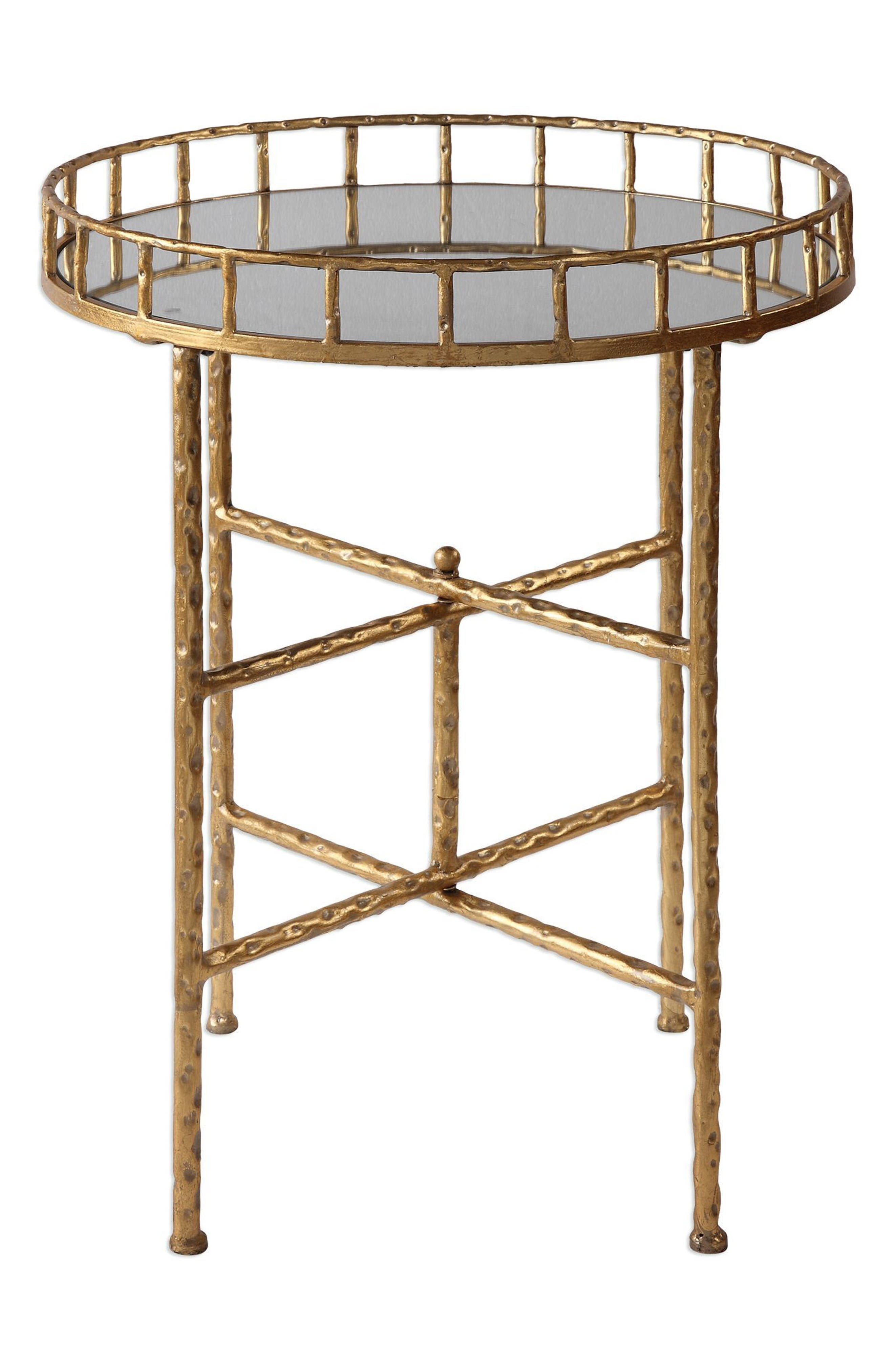 Tilly Accent Table,                         Main,                         color, Metallic Gold