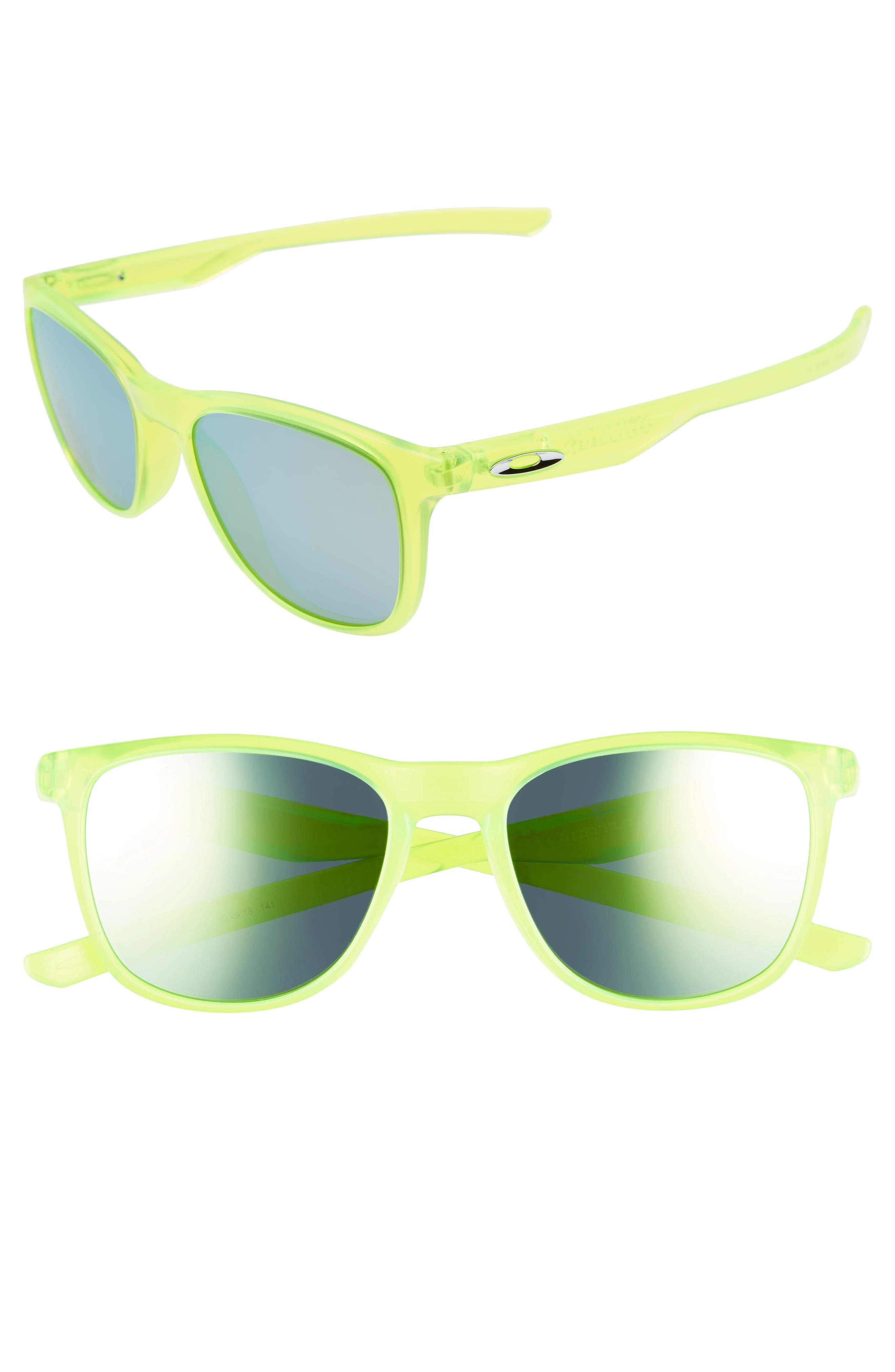 Trillbe X 52mm Sunglasses,                             Main thumbnail 1, color,                             Uranium/ Emerald Iridium