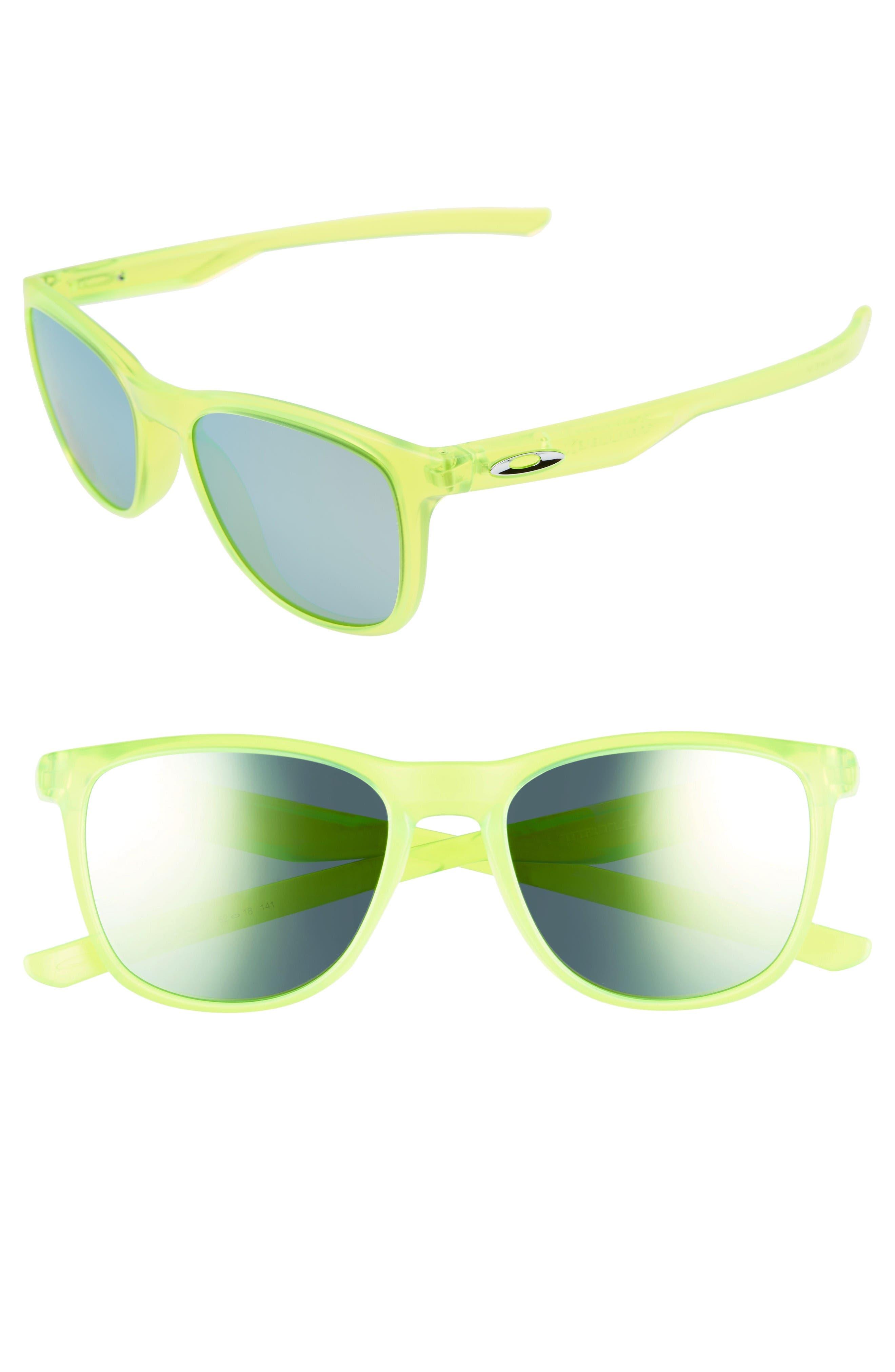 Trillbe X 52mm Sunglasses,                         Main,                         color, Uranium/ Emerald Iridium