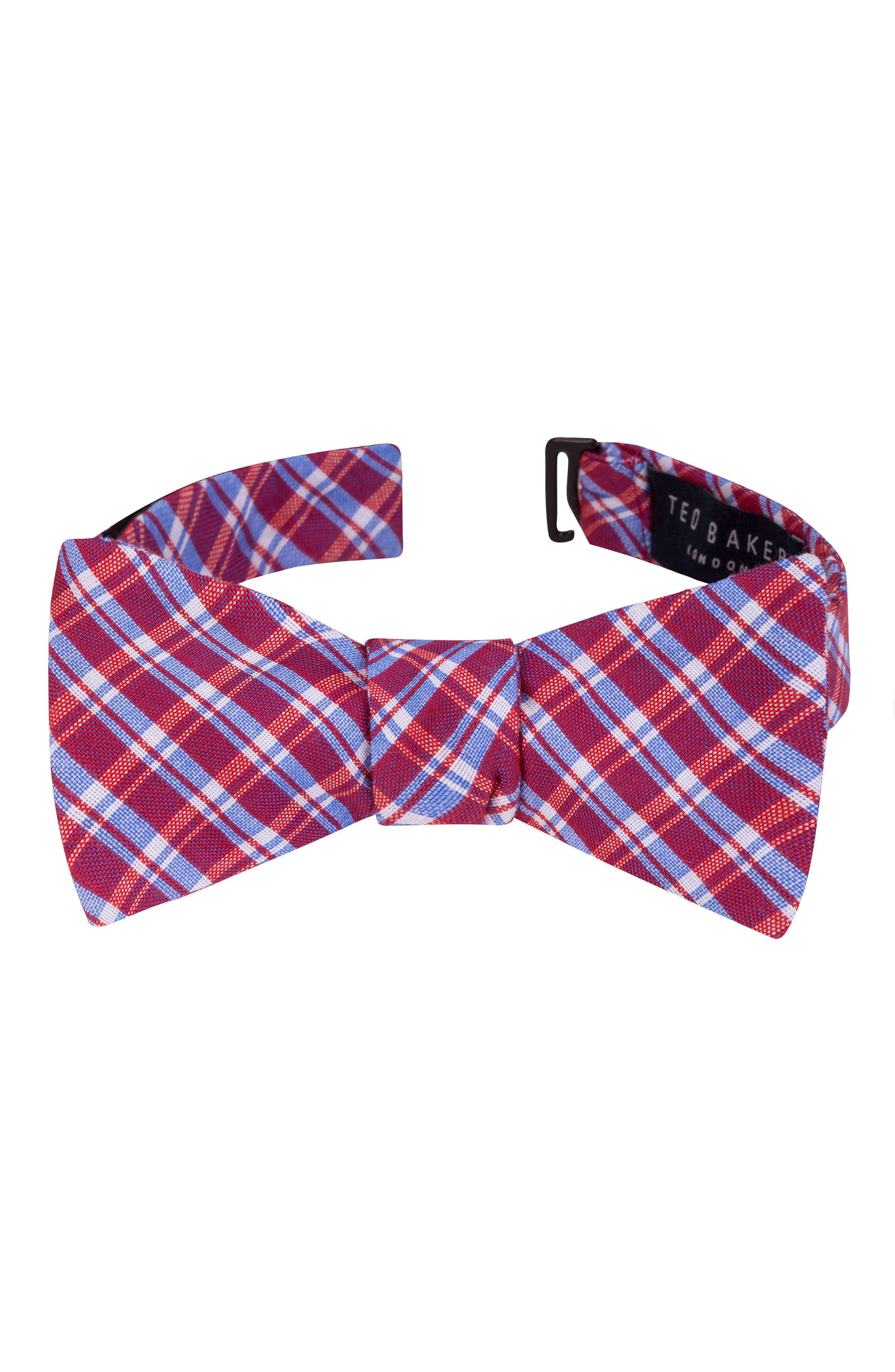 TED BAKER LONDON Plaid Cotton & Silk Bow Tie