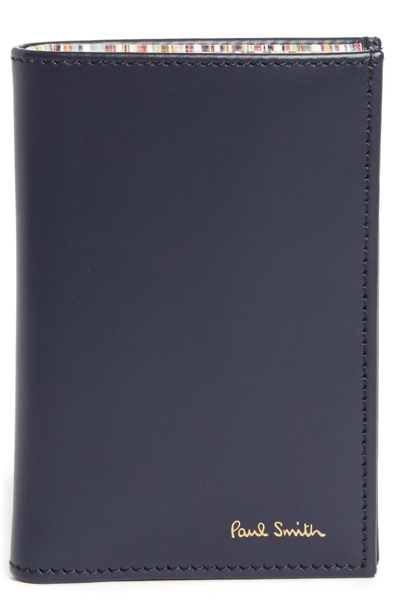 Multistripe Leather Wallet,                         Main,                         color, Blue