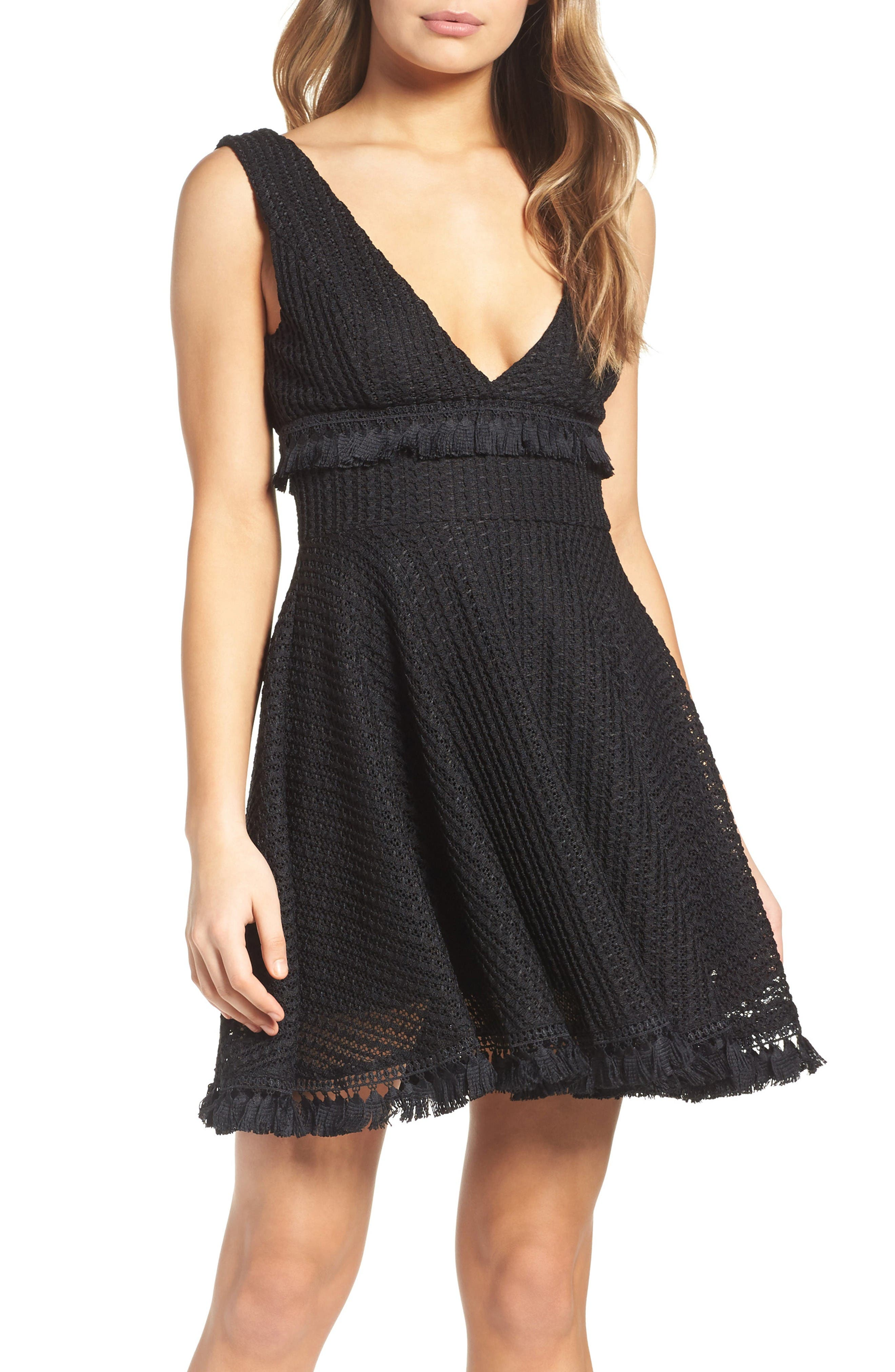 Kiss Me in the Candlelight Dress,                         Main,                         color, Black