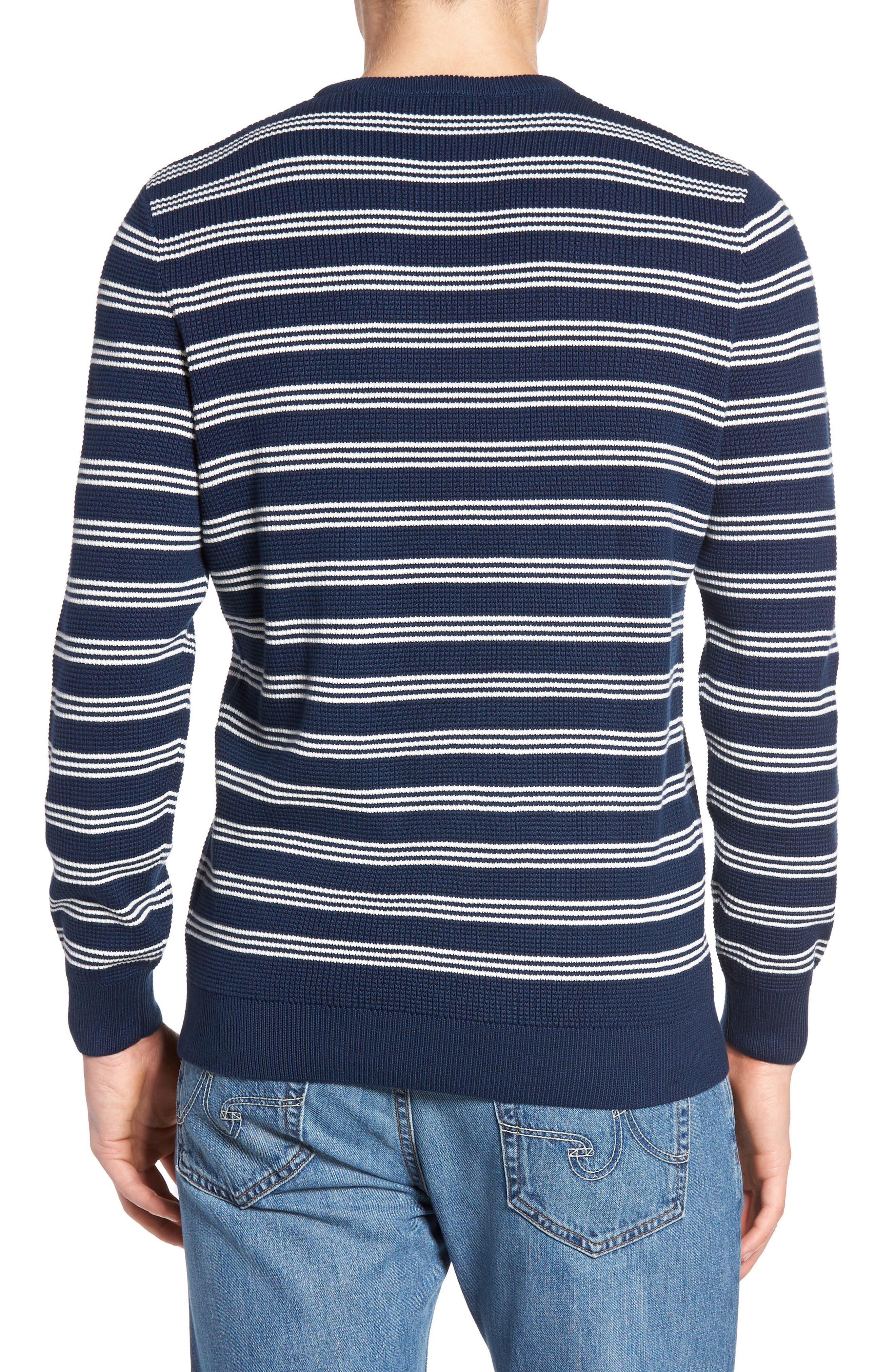 Alternate Image 2  - Lacoste Waffle Stitch Stripe Sweater