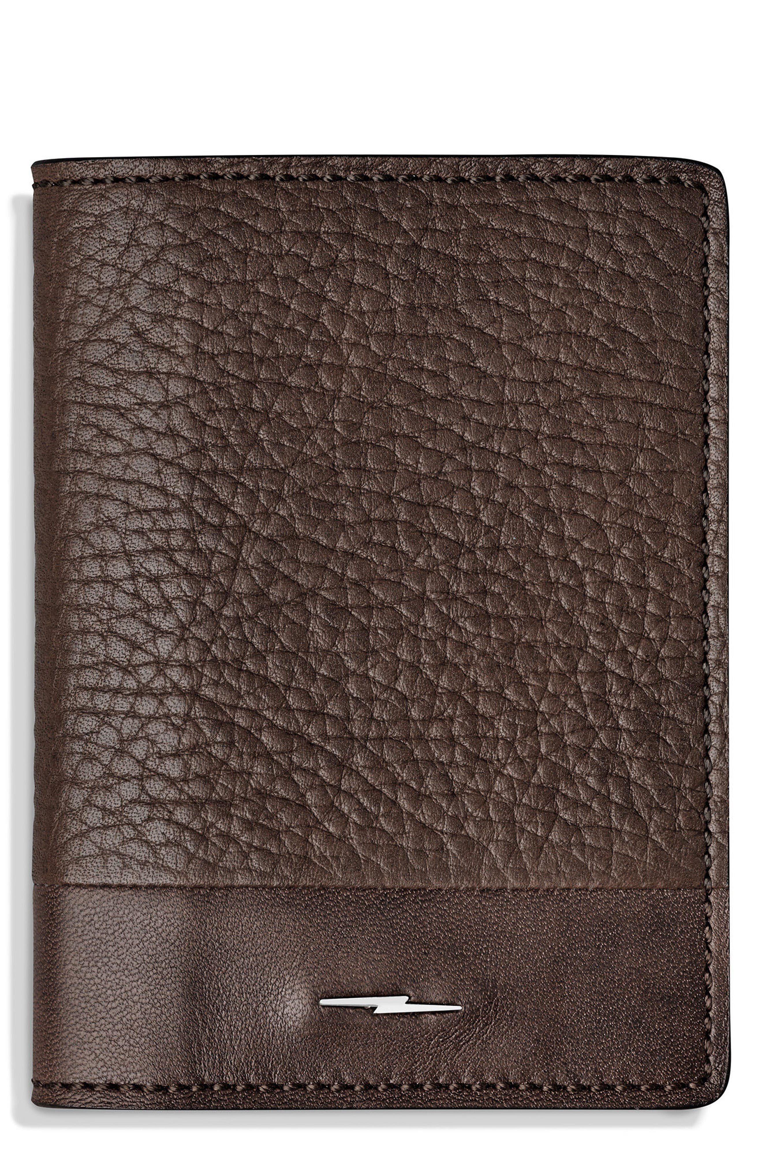 Bold Card Case,                         Main,                         color, Deep Brown