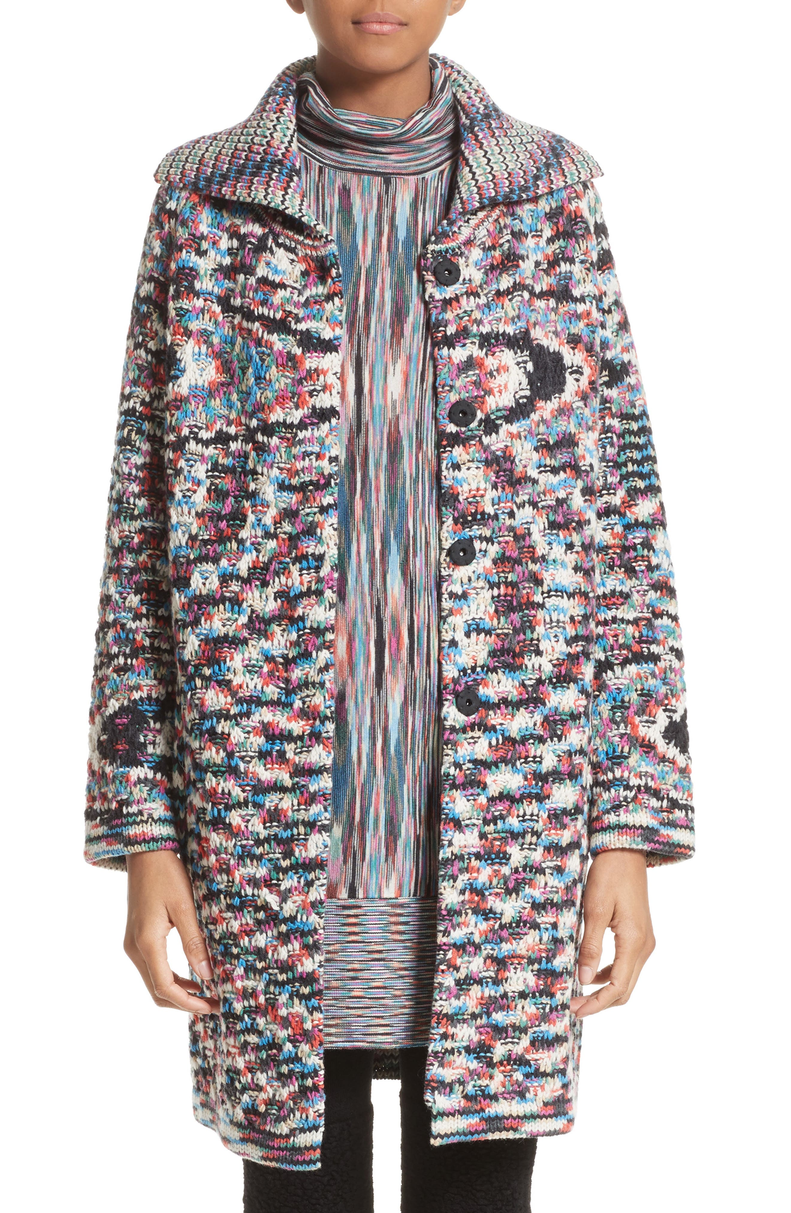 Space Dye Cashmere Cardigan,                         Main,                         color, Multi