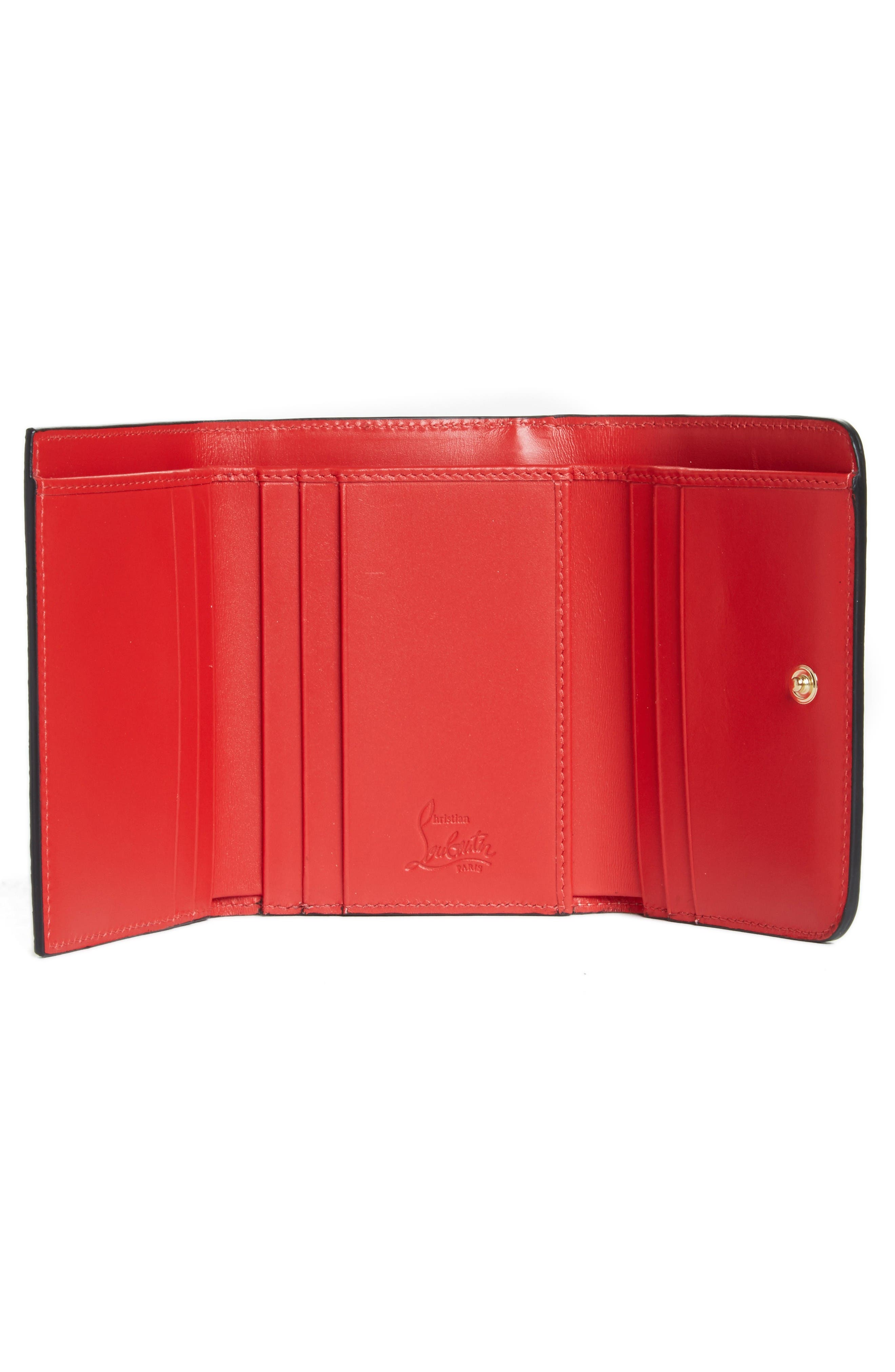 Alternate Image 2  - Christian Louboutin Spiked Leather French Wallet