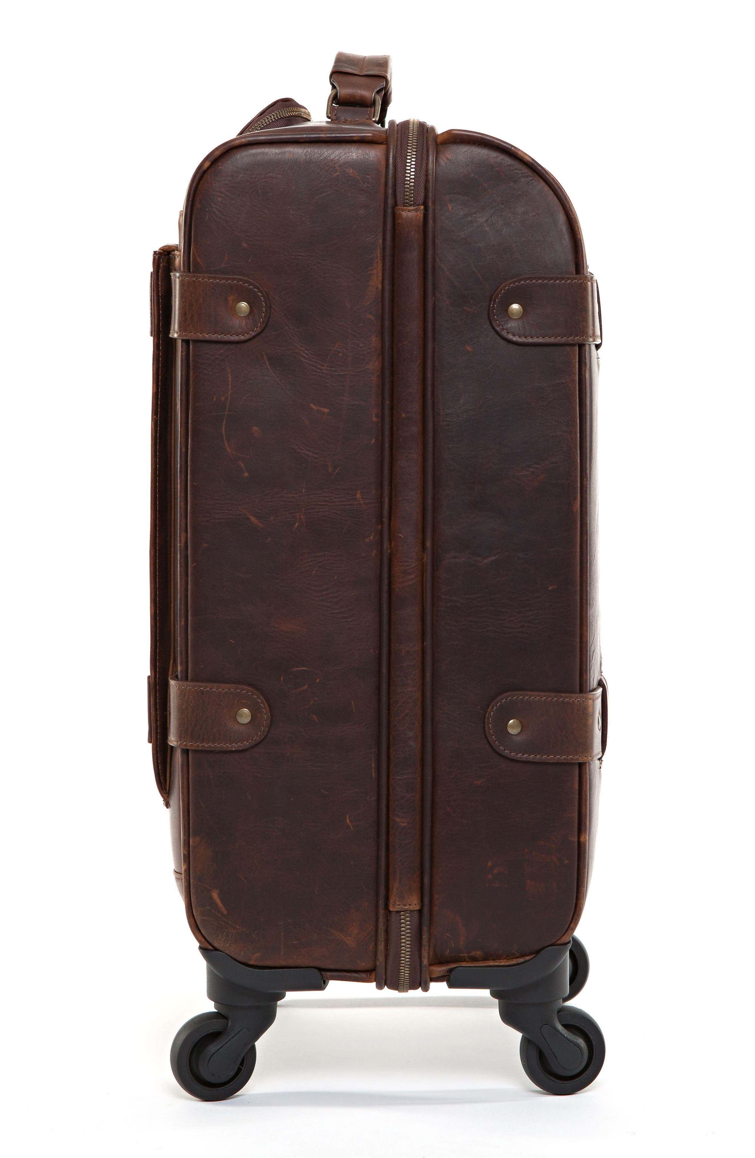 Alternate Image 4  - Moore & Giles Parker Leather Wheeled Suitcase