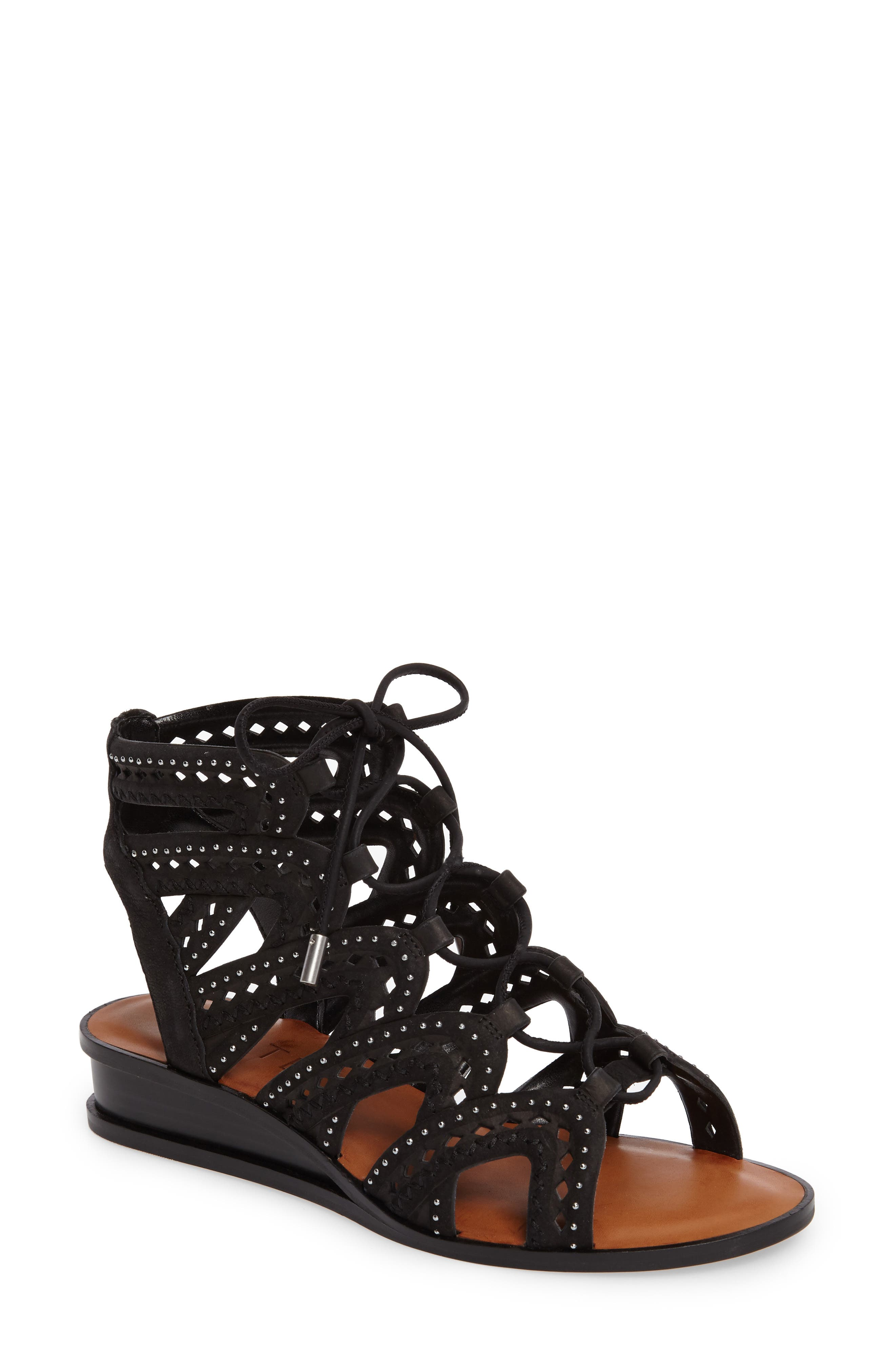 Alternate Image 1 Selected - 1.STATE Maygan Ghillie Wedge Sandal (Women)