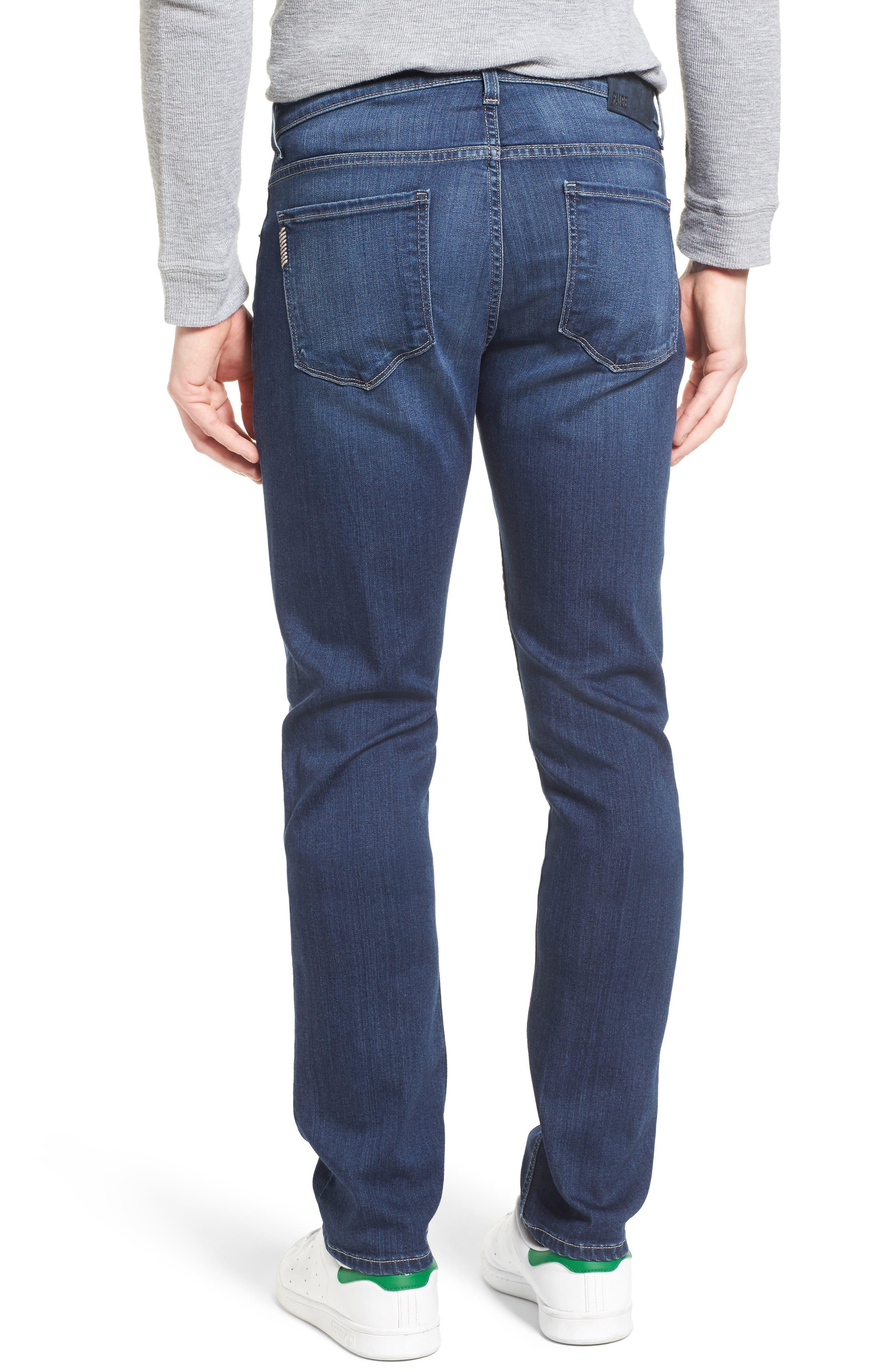 Transcend - Lennox Straight Leg Jeans,                             Alternate thumbnail 2, color,                             Leo