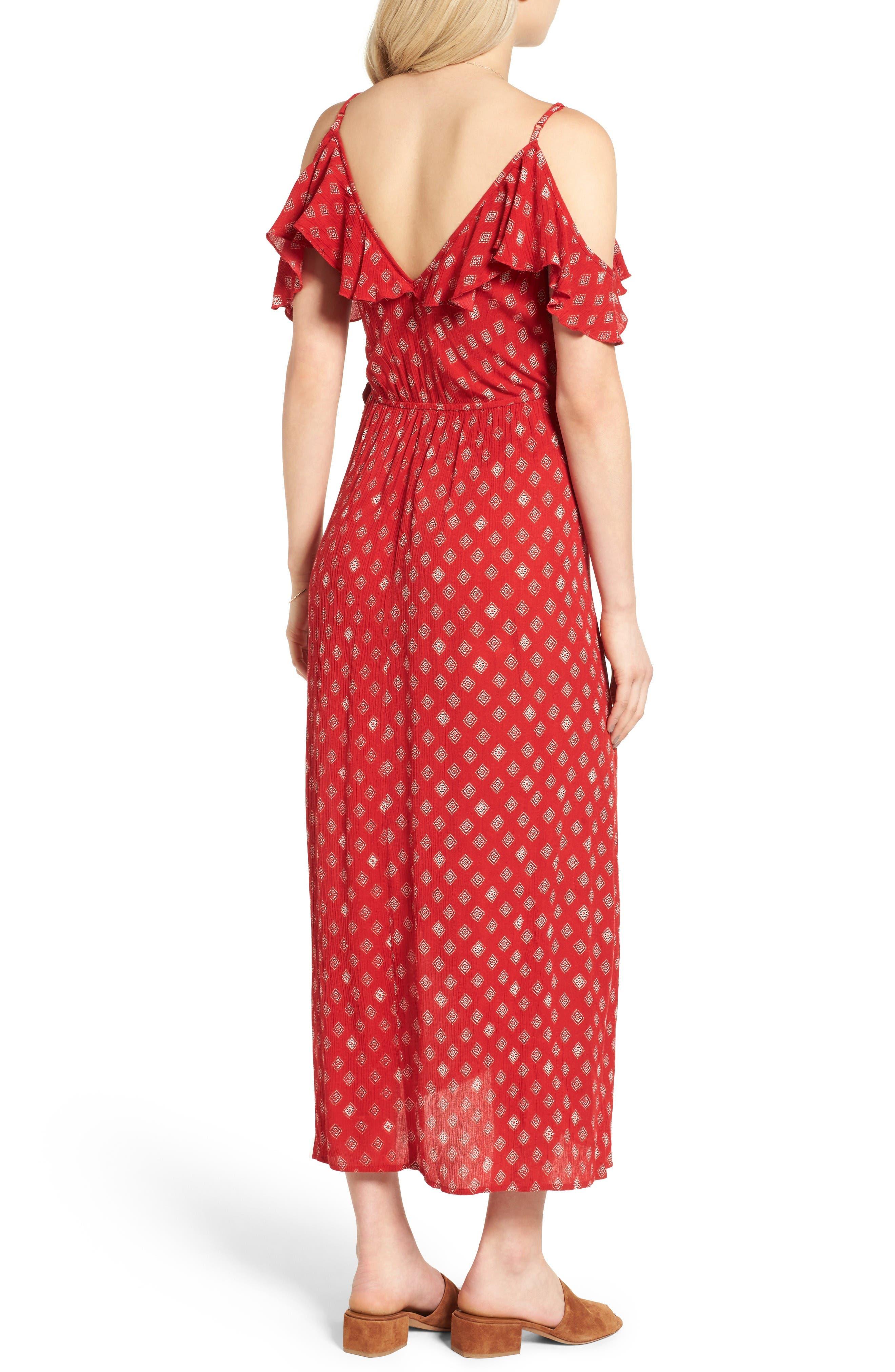 Alternate Image 2  - Band of Gypsies Foulard Cold Shoulder Dress
