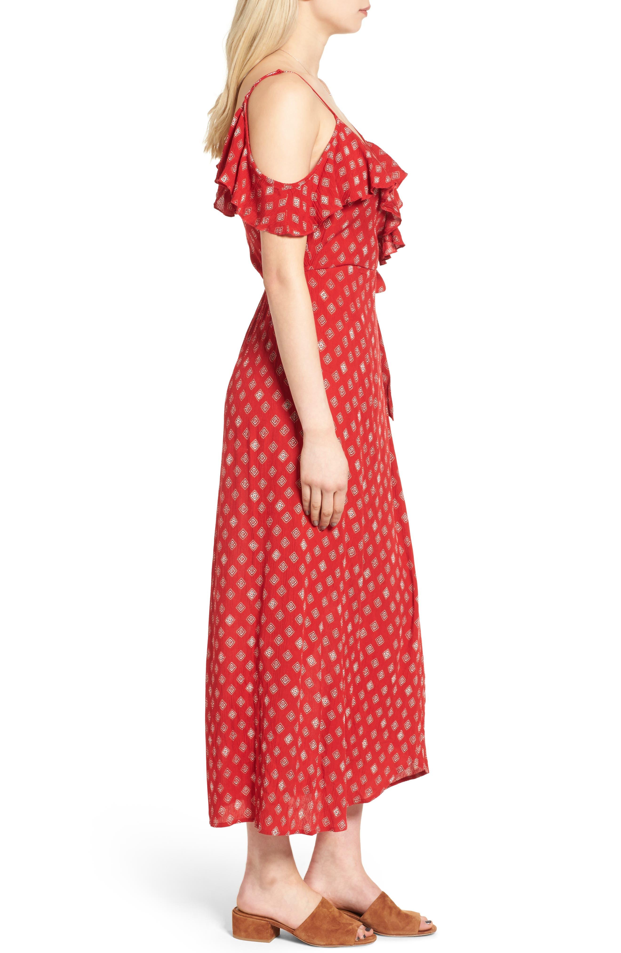 Alternate Image 3  - Band of Gypsies Foulard Cold Shoulder Dress