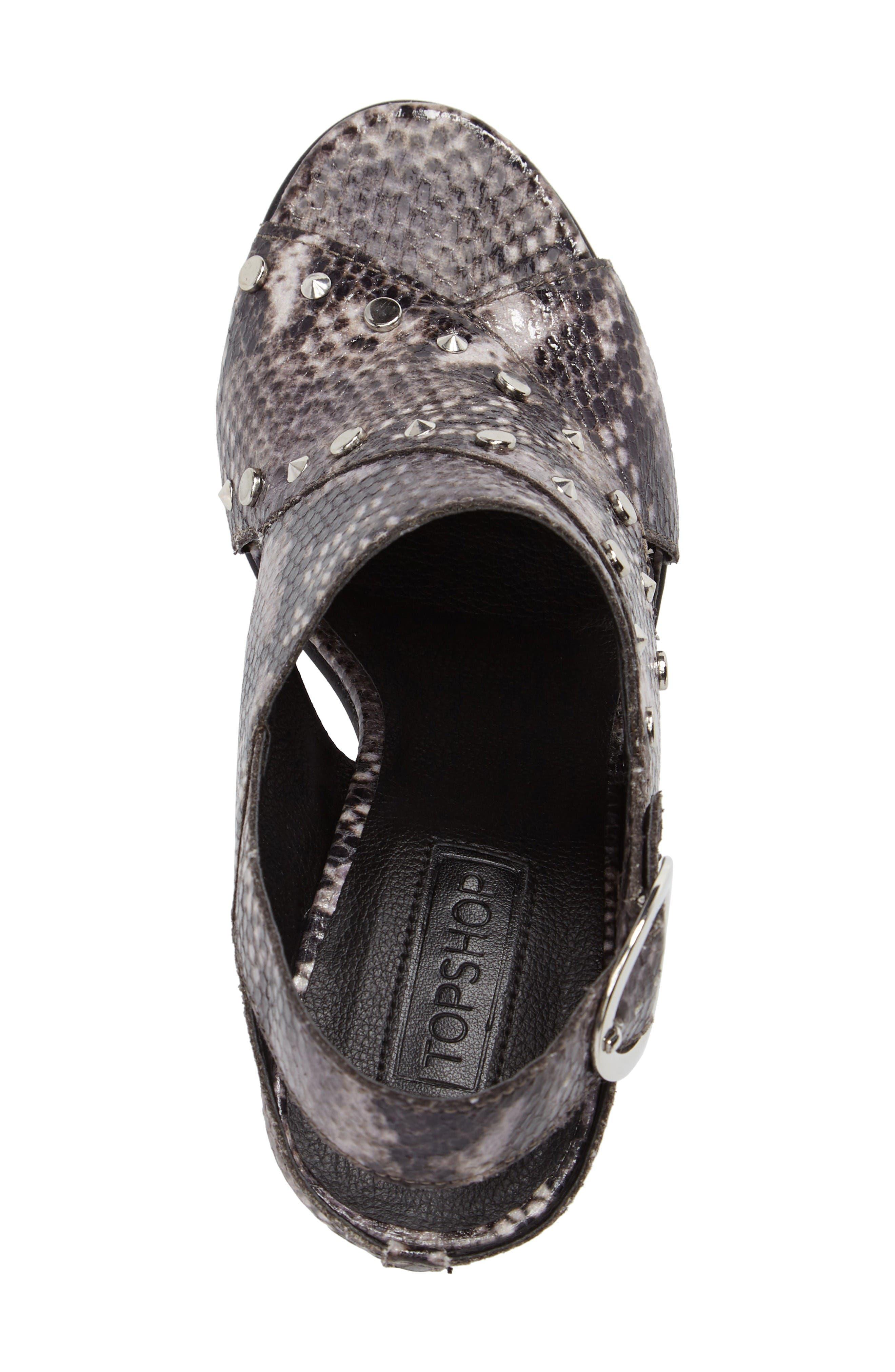 Alternate Image 5  - Topshop Nixie Block Heel Sandal (Women)