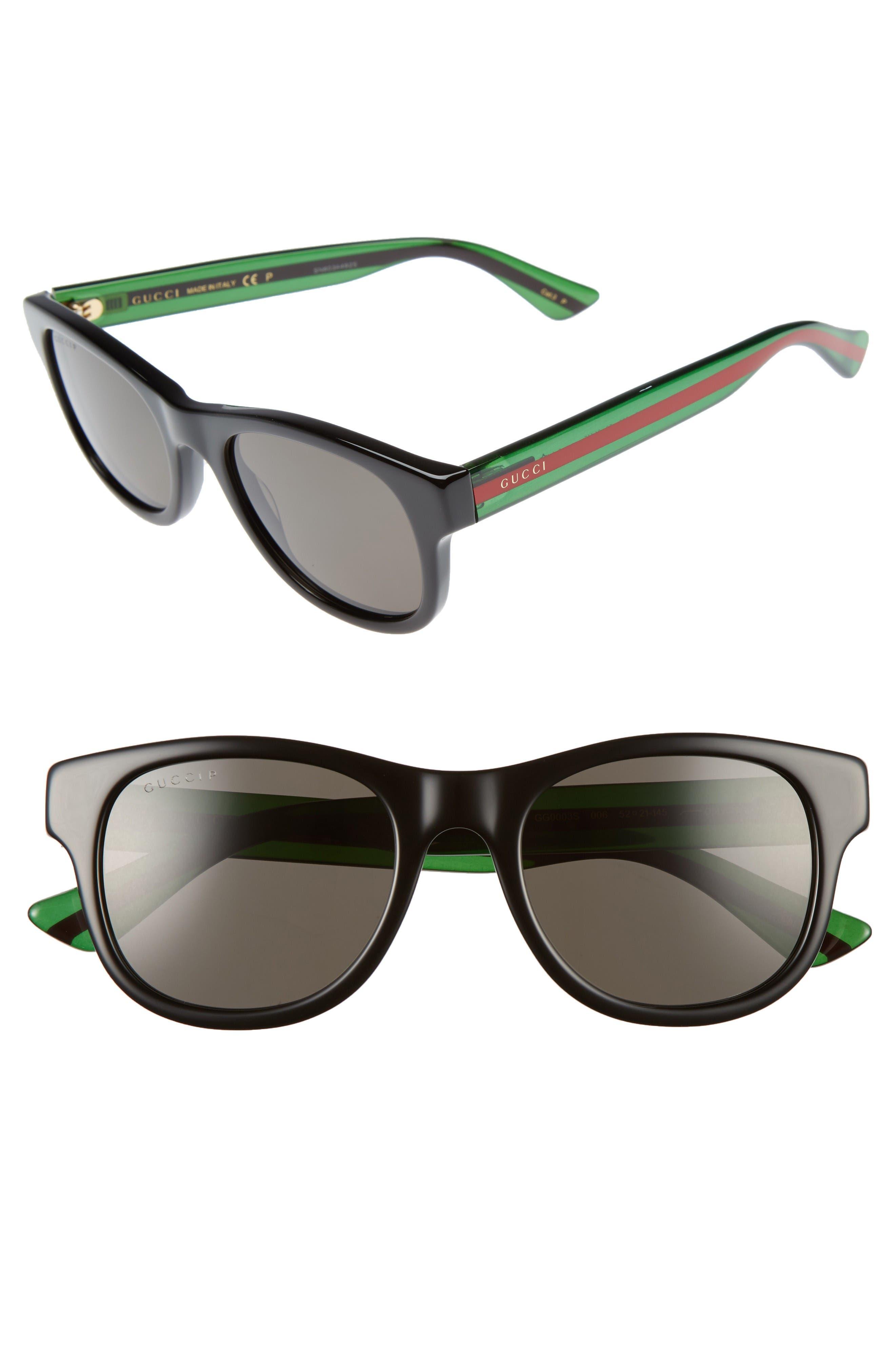 Pop Web 52mm Sunglasses,                             Main thumbnail 1, color,                             Black Polar Grey Lens