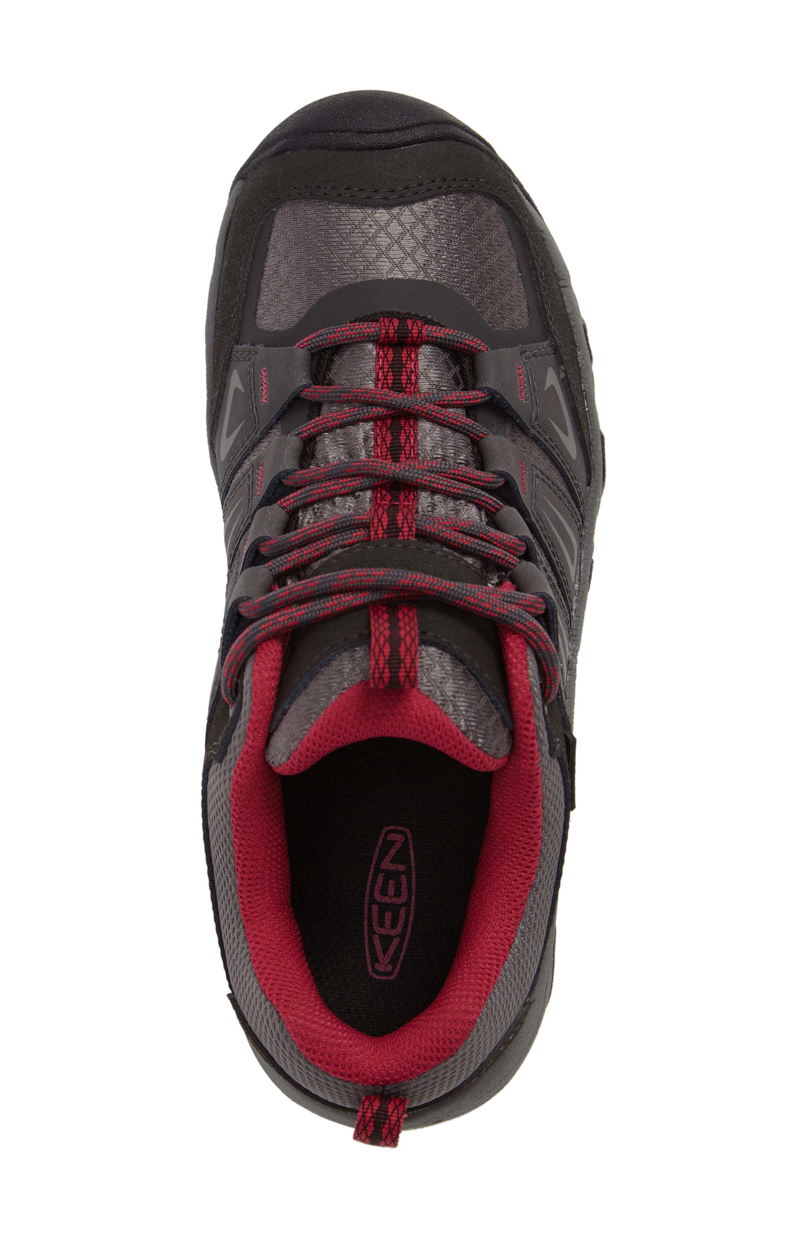 Oakridge Waterproof Hiking Shoe,                             Alternate thumbnail 5, color,                             Magnet/ Rose Fabric