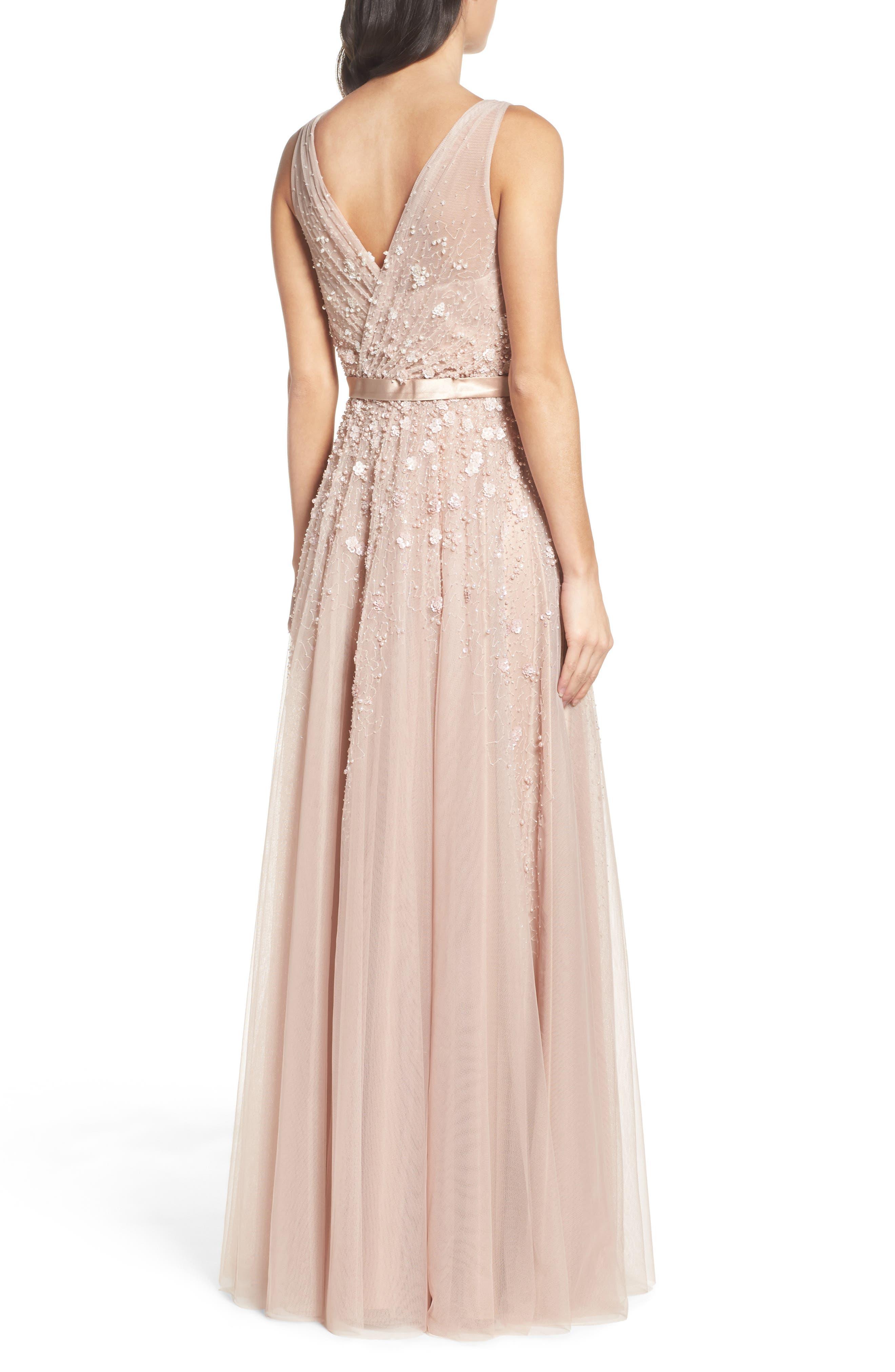 Alternate Image 2  - Mac Duggal Embellished Mesh Gown